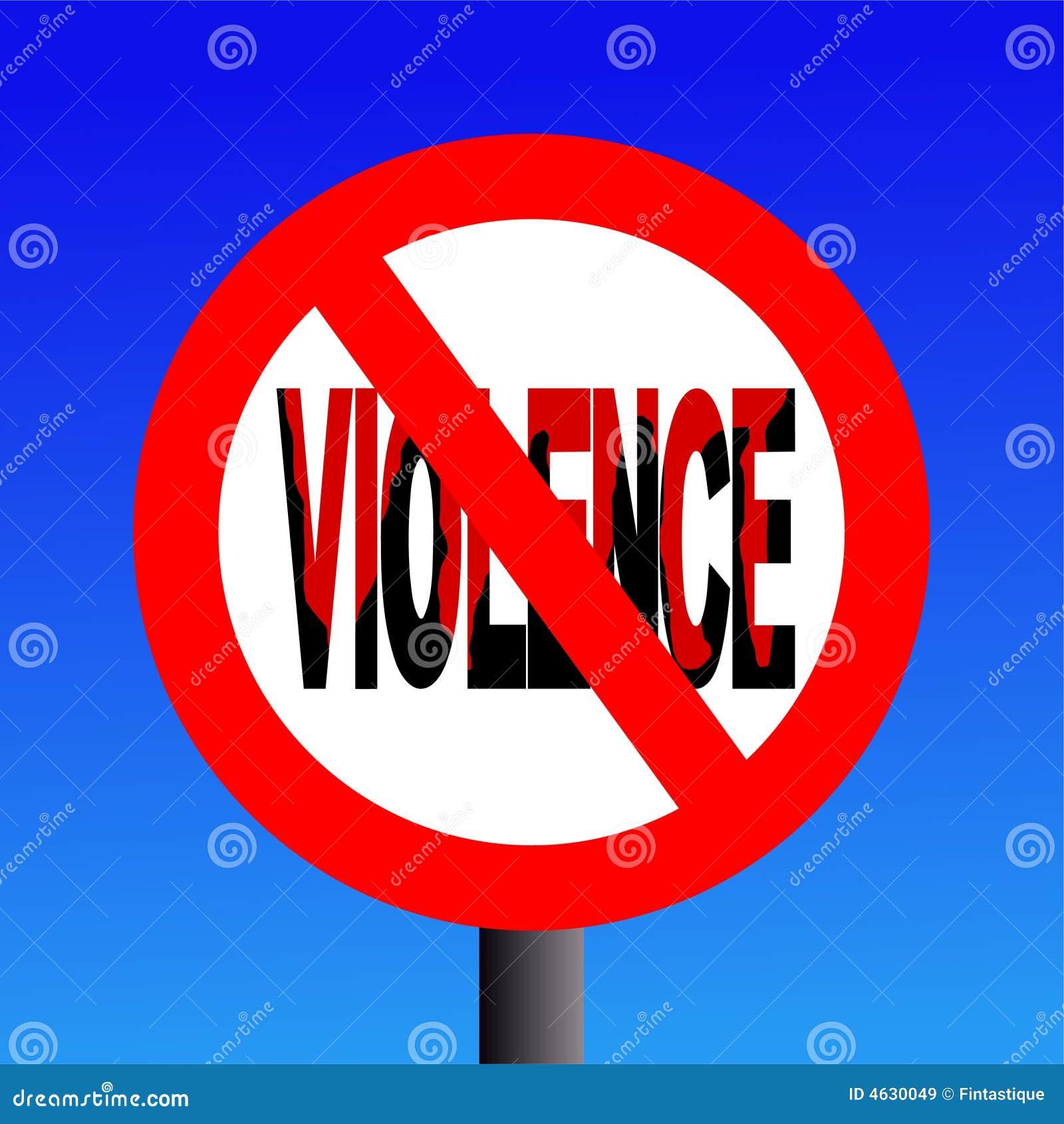 Sinal proibido violência