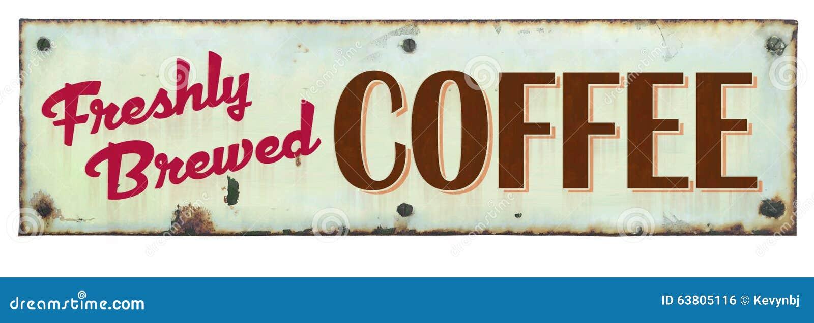 Sinal retro do café