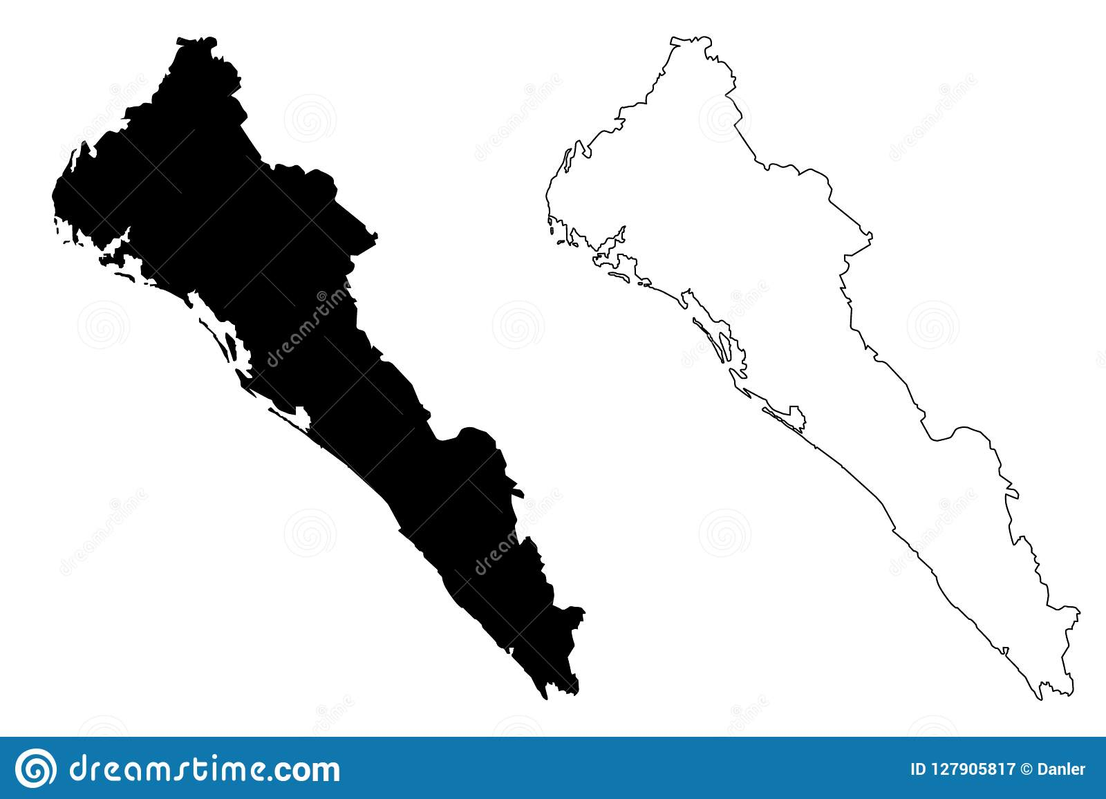 Culiacan Sinaloa Mexico Map.Sinaloa Map Vector Stock Vector Illustration Of Culiacan 127905817