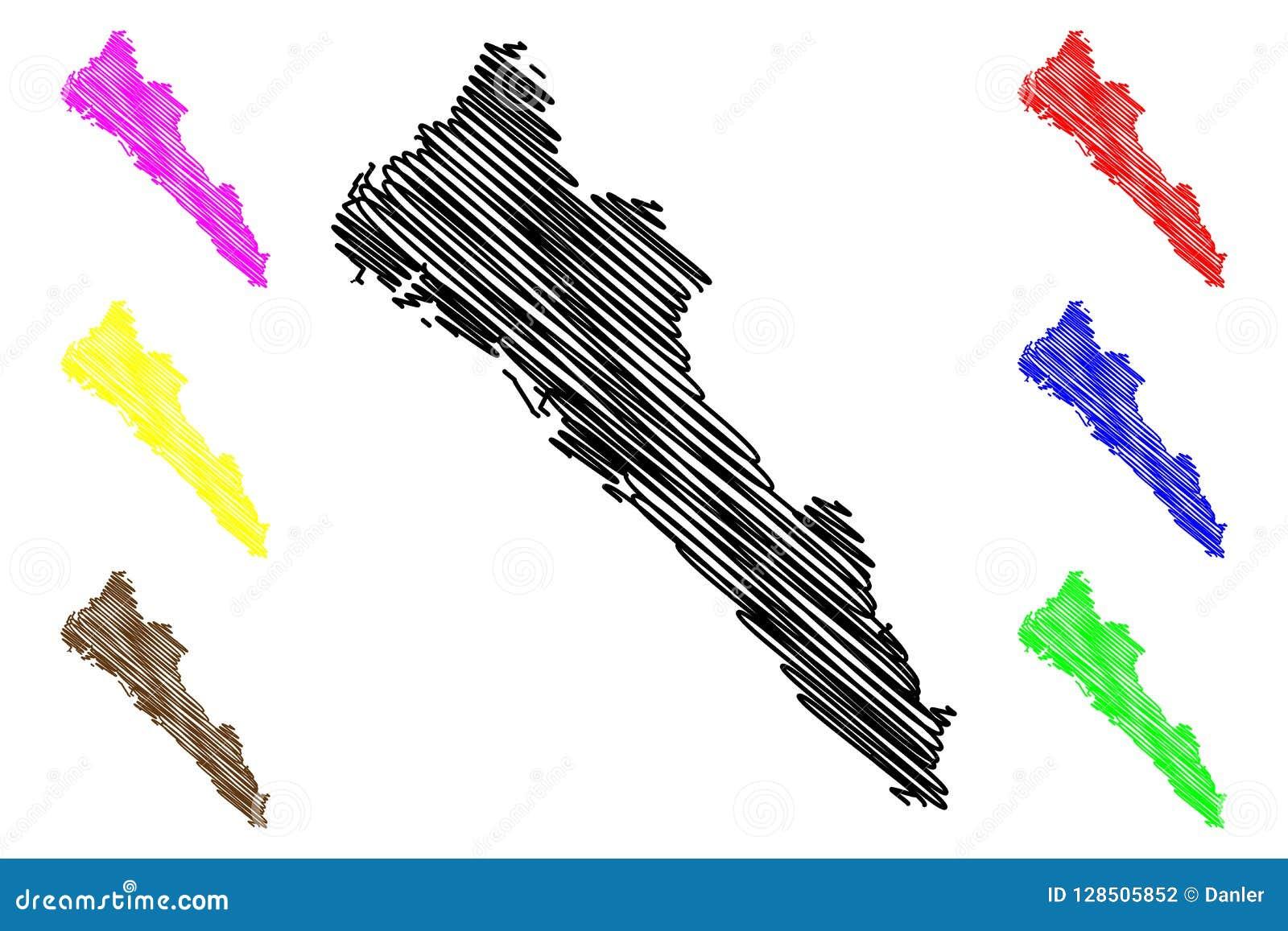 Mexico Map Sinaloa.Sinaloa Map Vector Stock Vector Illustration Of Banner 128505852
