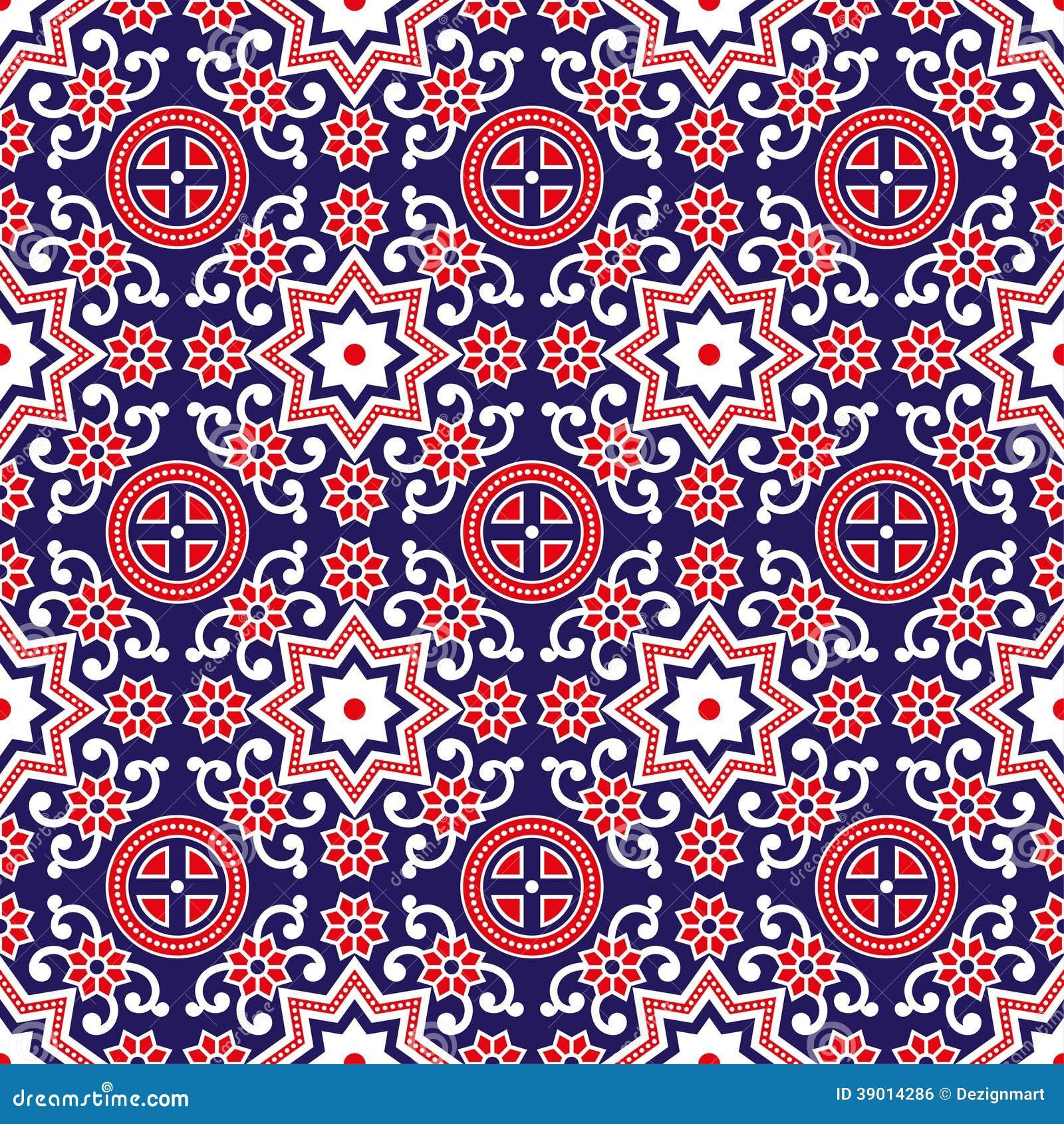 Sindhi Ajrak Pattern Vector Stock Image 39014286
