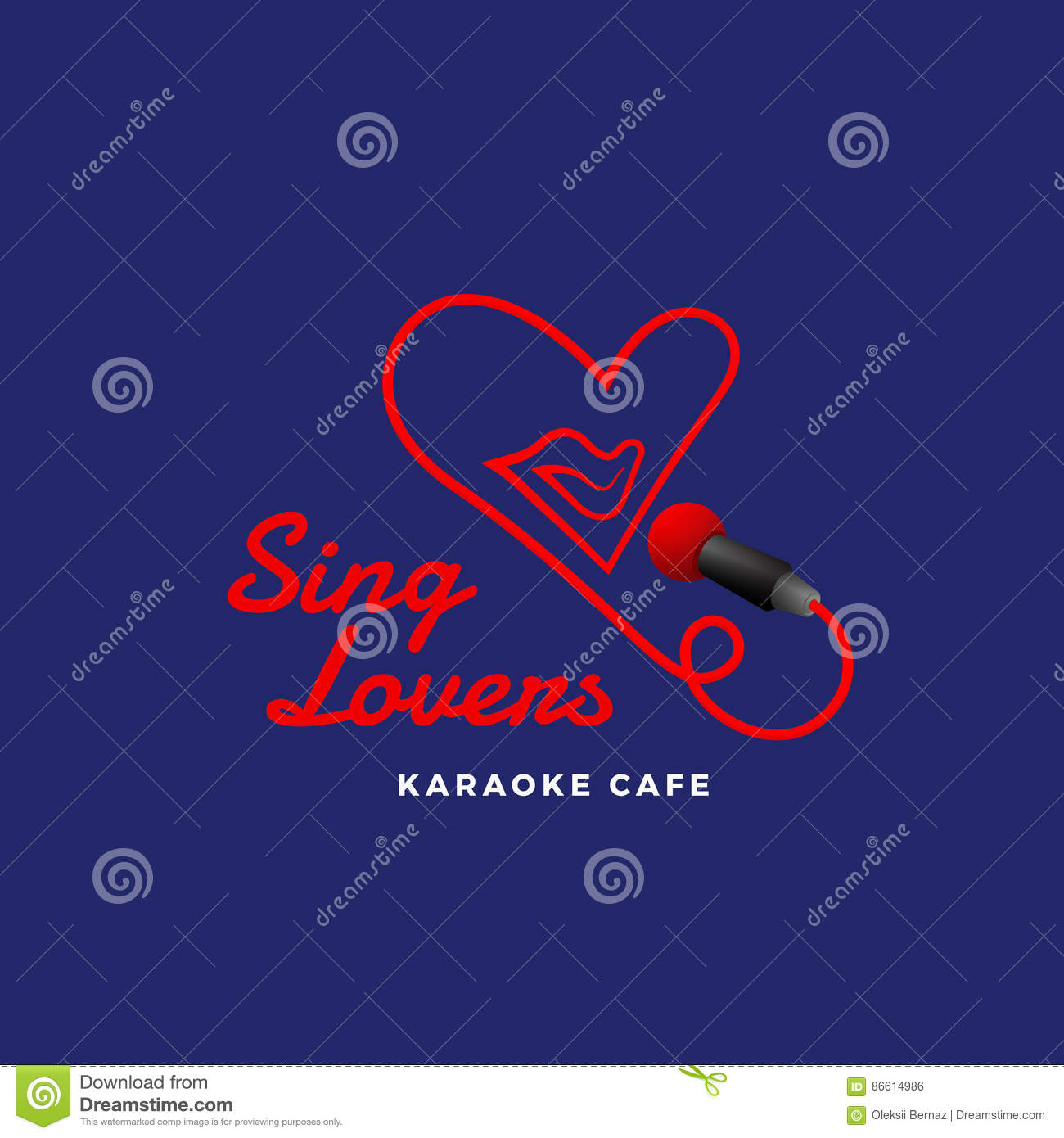 sing lovers karaoke abstract vector sign emblem or logo template