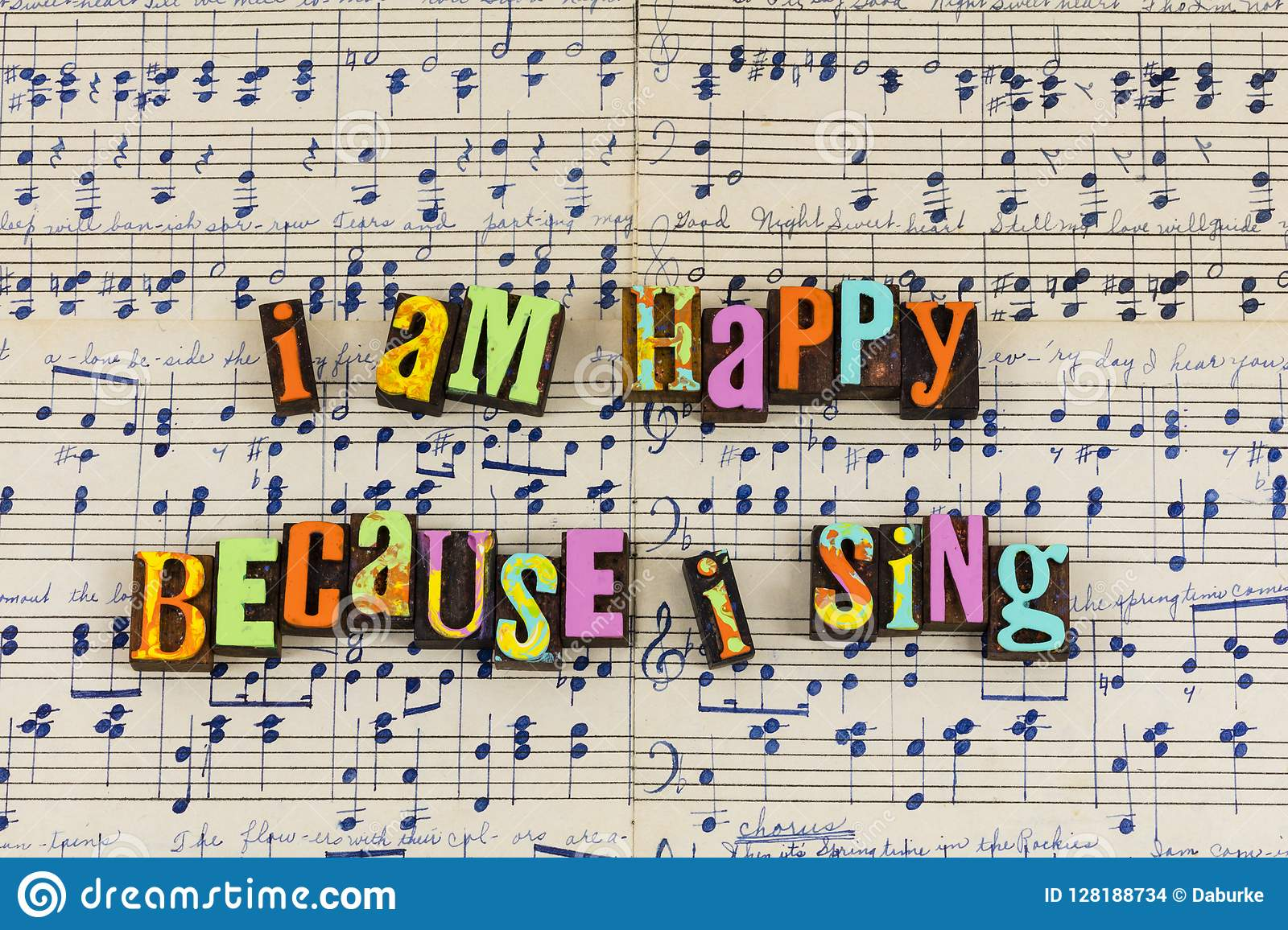 Sing singing happy days stock illustration  Illustration of