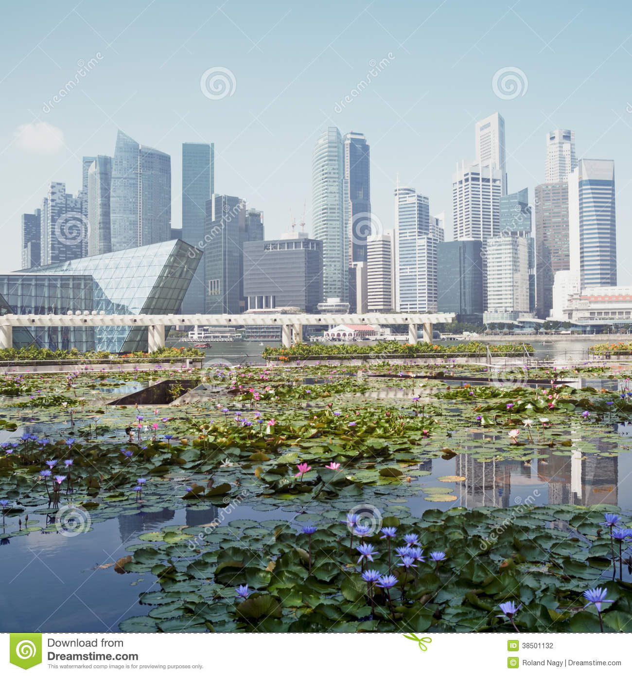 Singapor The City In A Garden Stock Photo Image Of