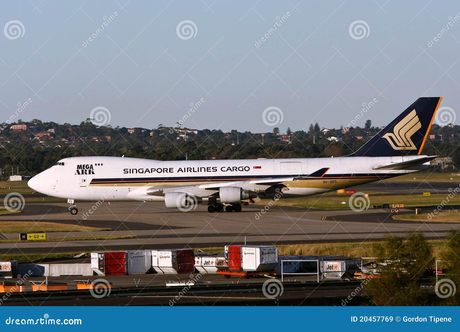 Singapore Airlines 747 laststråle