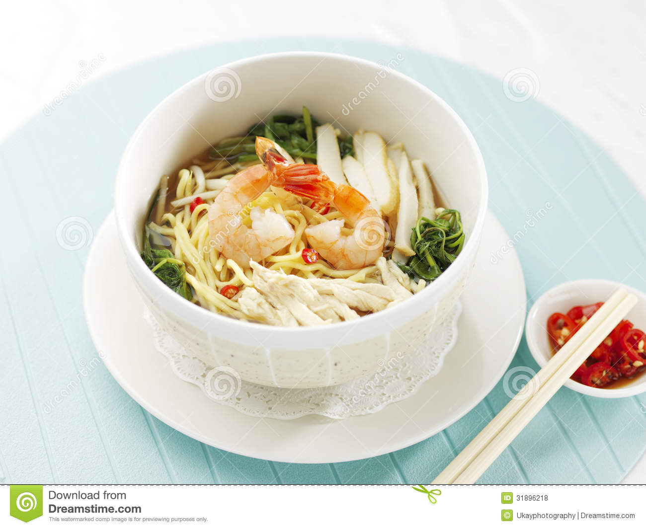 Singapore asian style prawn noodle stock photo image of for Asian cuisine singapore