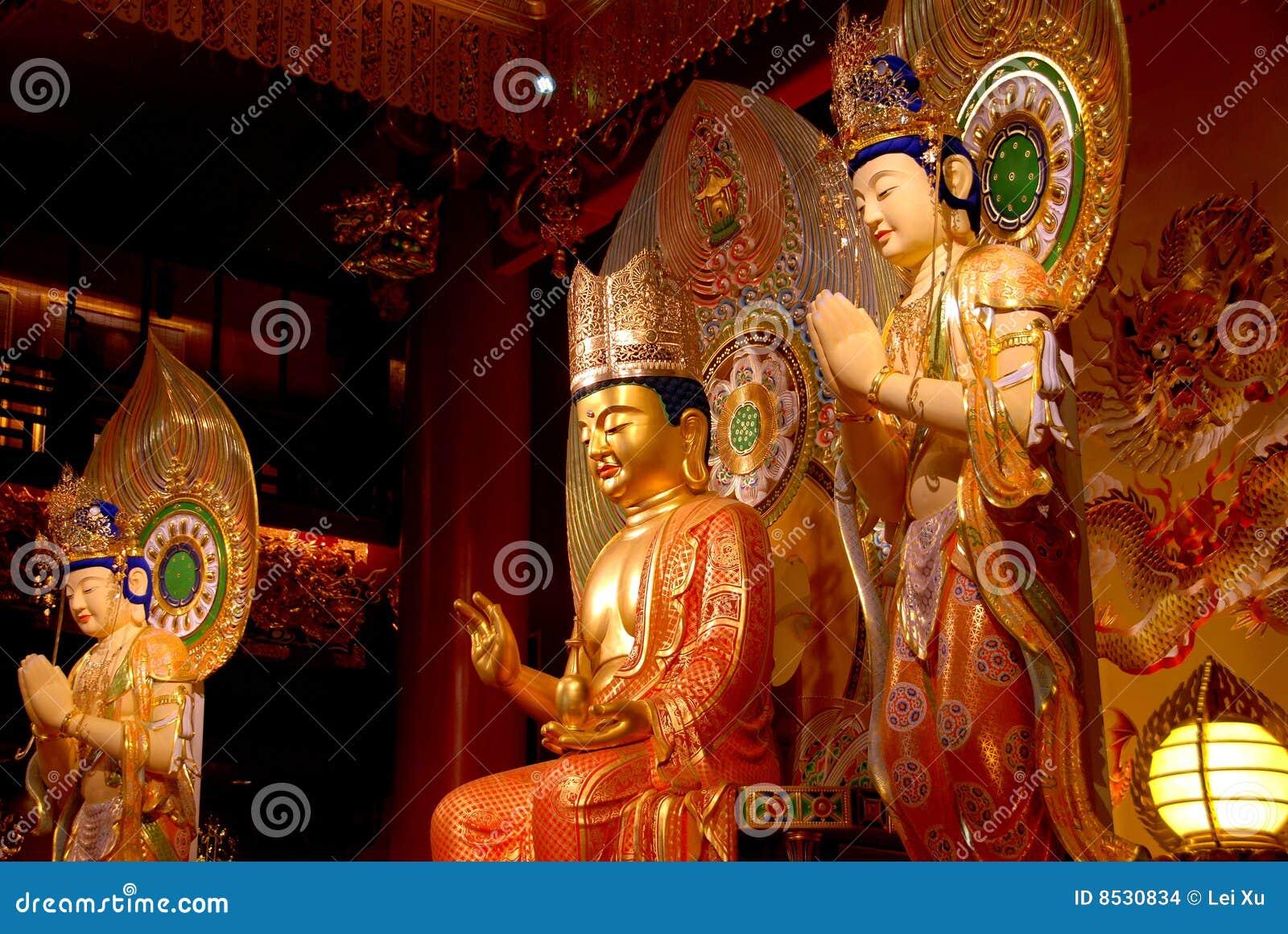 Singapore: Buddas bij de Tempel van het Overblijfsel van de Tand van Boedha