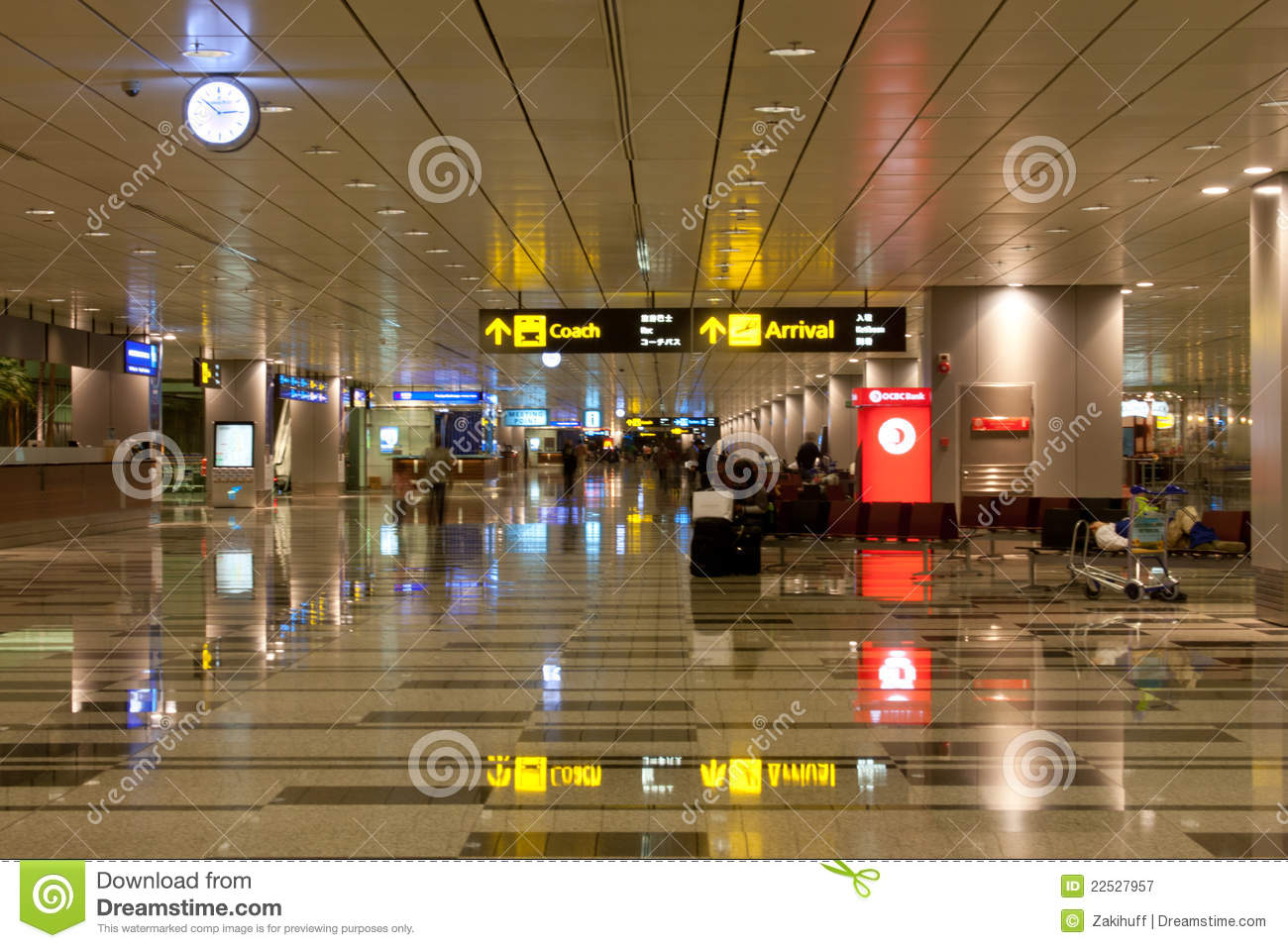 singapore changi airport arrival hall editorial. Black Bedroom Furniture Sets. Home Design Ideas