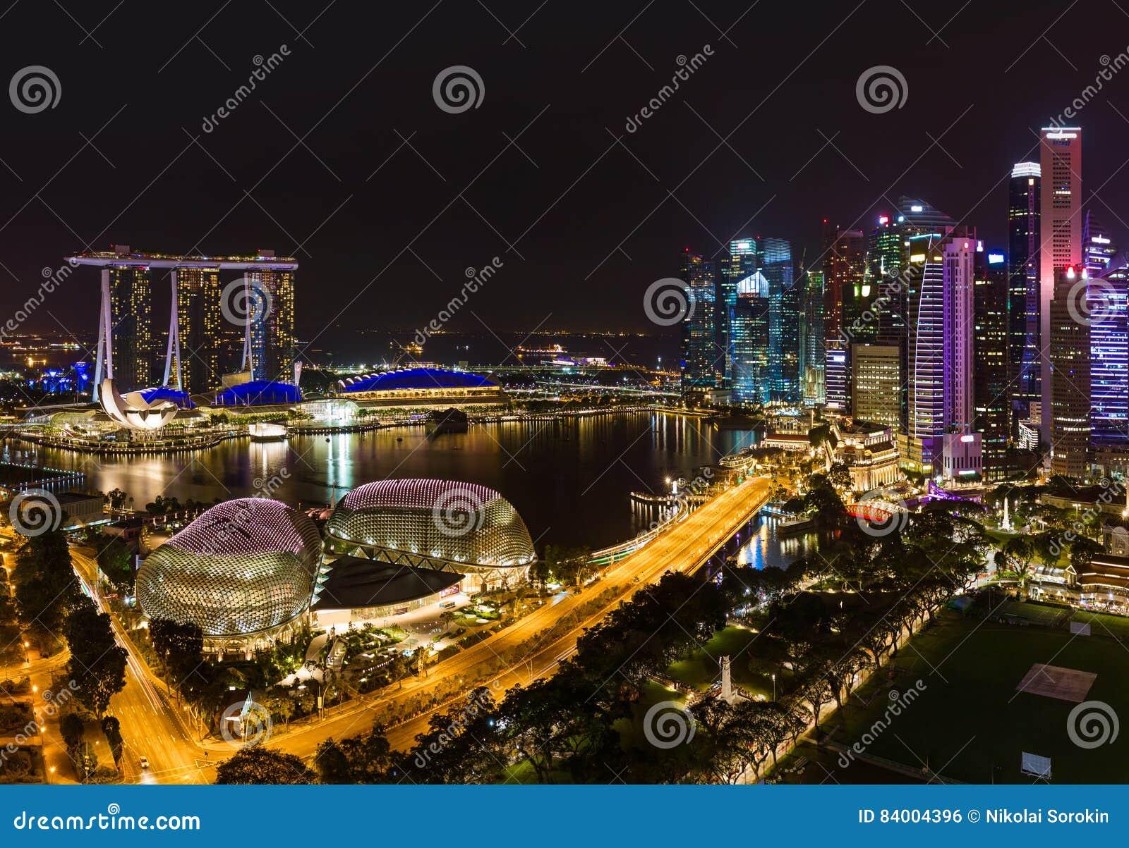 Download Singapore city skyline stock photo. Image of city, gardens - 84004396