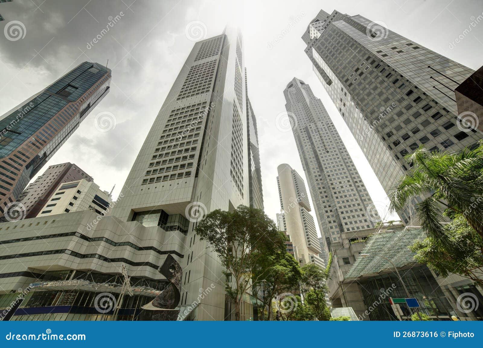 Singapore cityscape på dagen