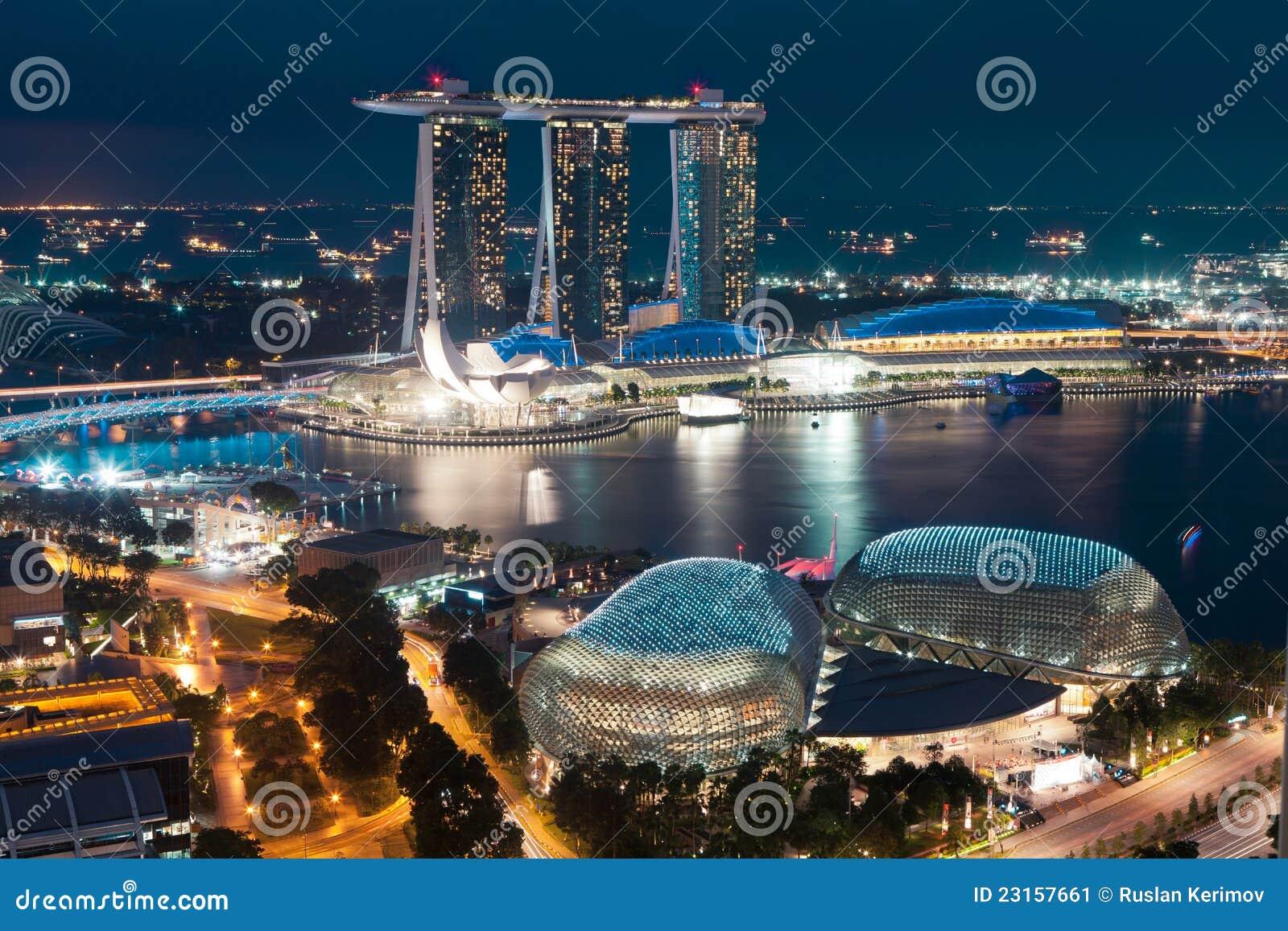 Singapore em a noite