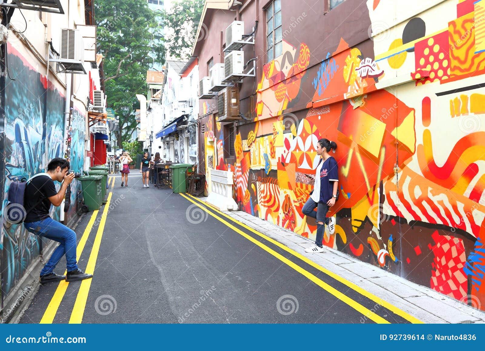 Singapore Graffiti Near Haji Lane