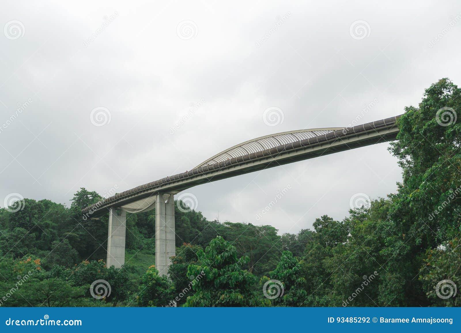 Singapore Henderson Wave Bridge At Mount Faber Park Stock