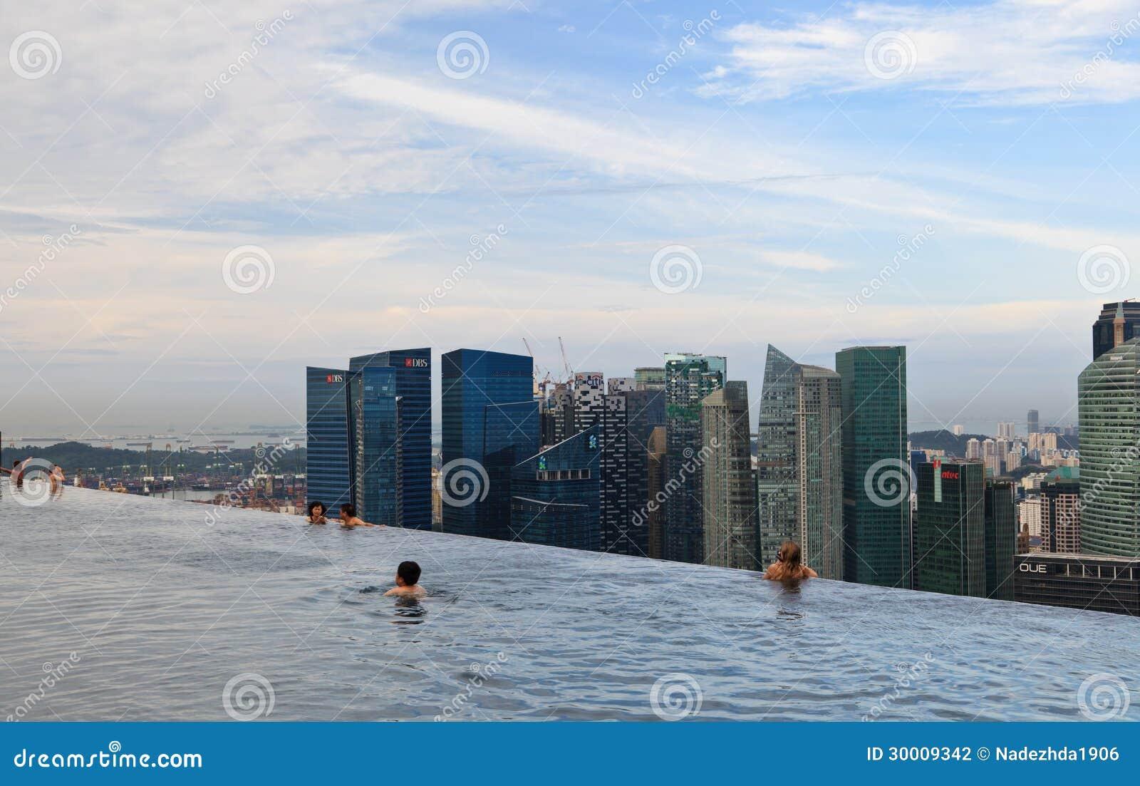 Marina Bay Sands Pool Editorial Photography Image 30009342