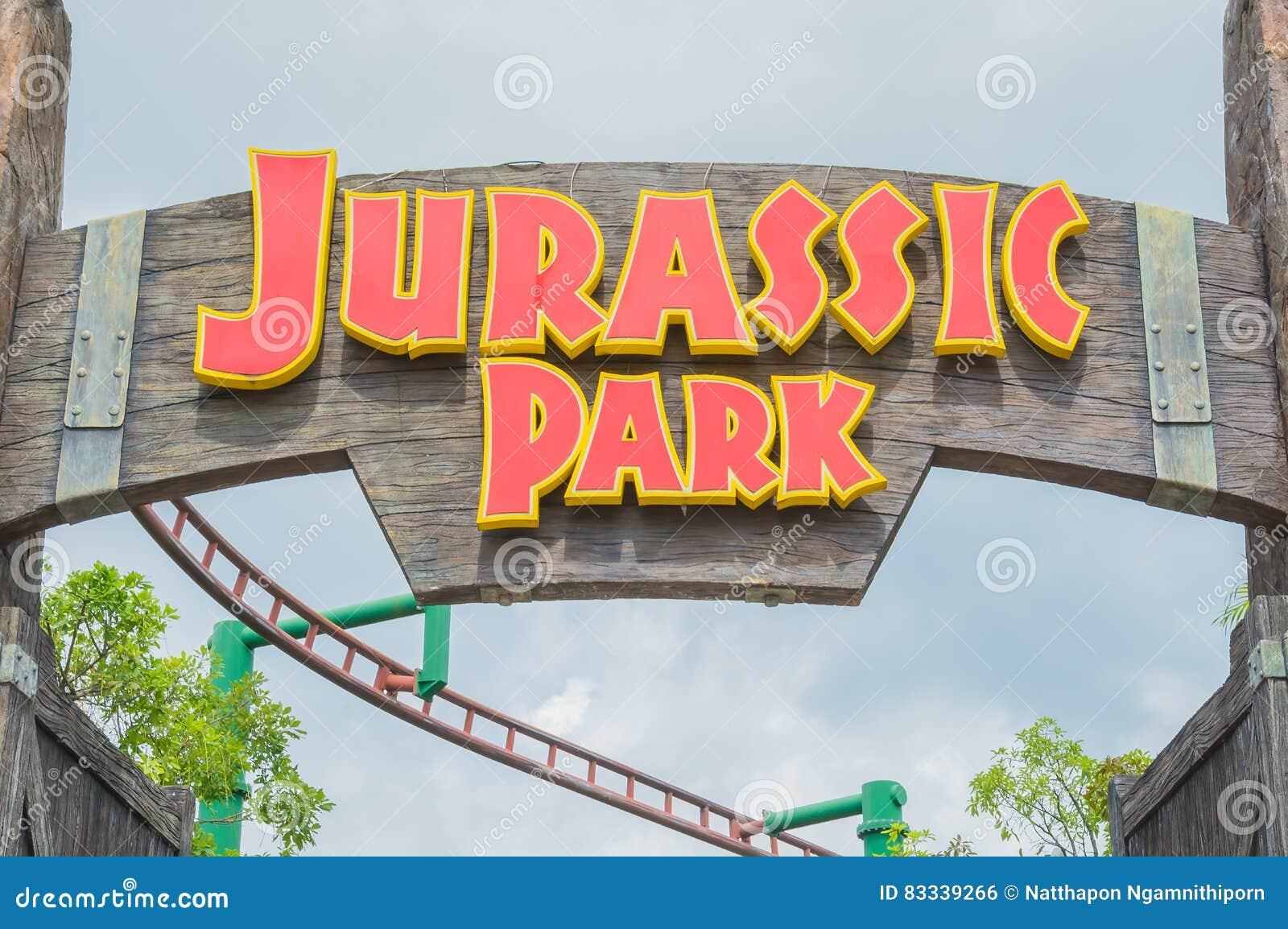 Singapore July 20 Jurassic Park Theme In Universal Studios Si
