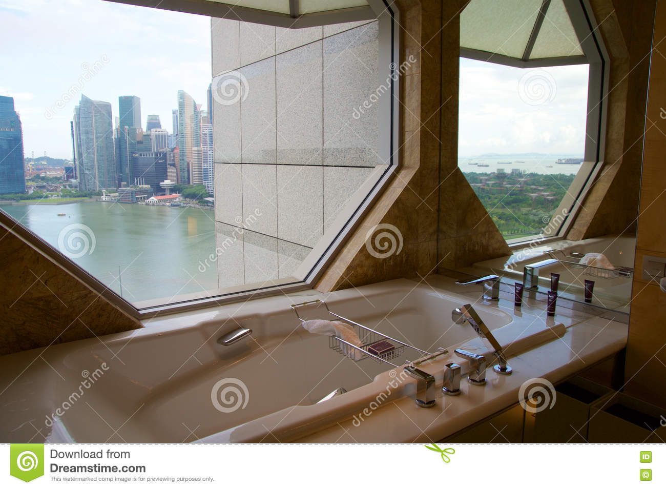 Singapore july rd luxury hotel room with modern