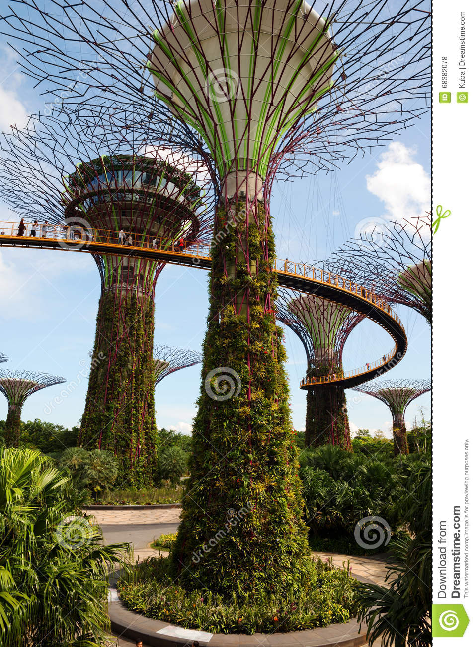 Singapore - March,2016.Gardens By The Bay In Singapore In March,2016 ...