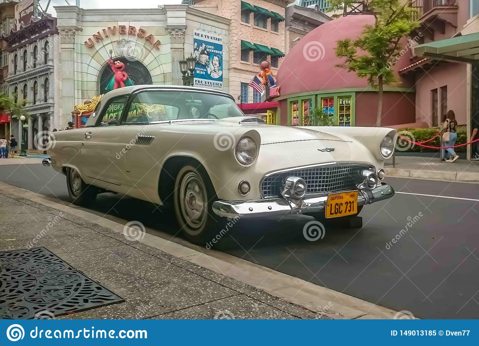 Singapore - May 25, 2019: Ford Thunderbird 1957 In White ...