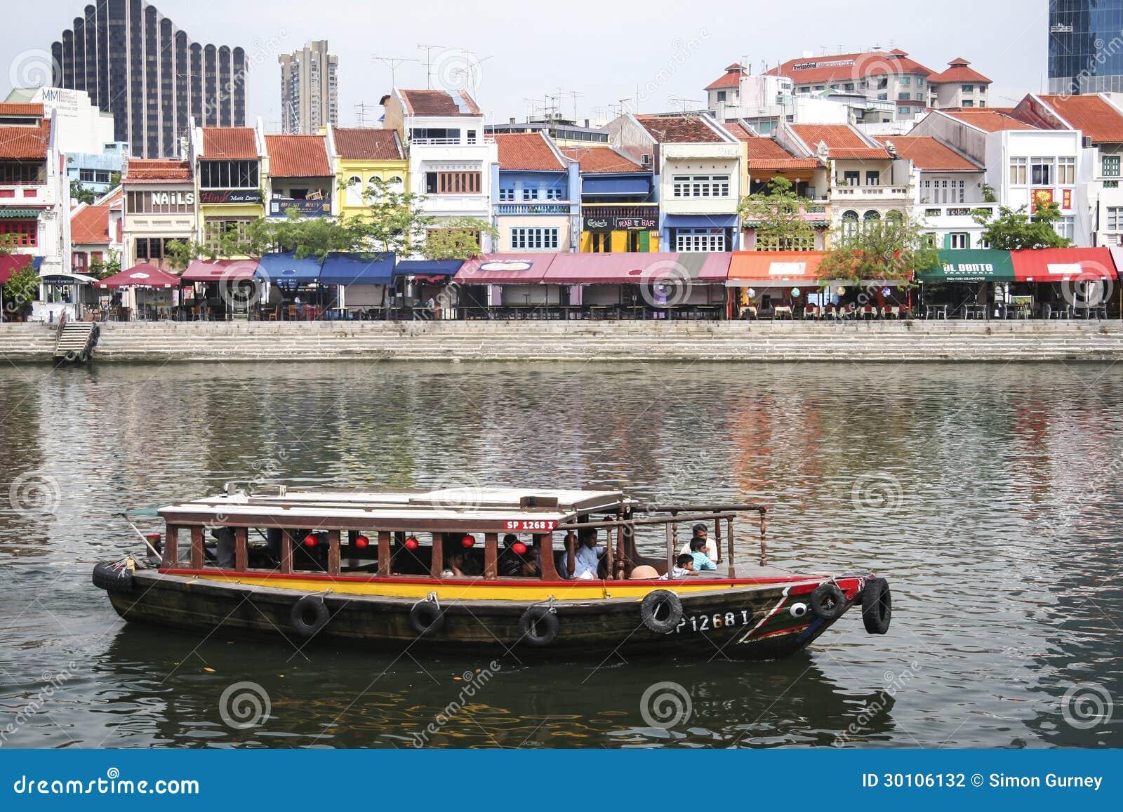 Singapore van de de kaderivieroever van Clarke stad