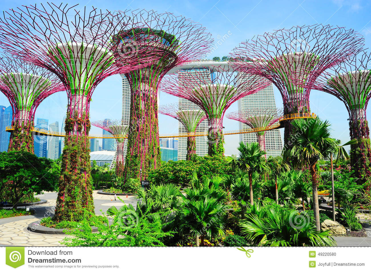 Singapore modern park editorial image. Image of attraction ...