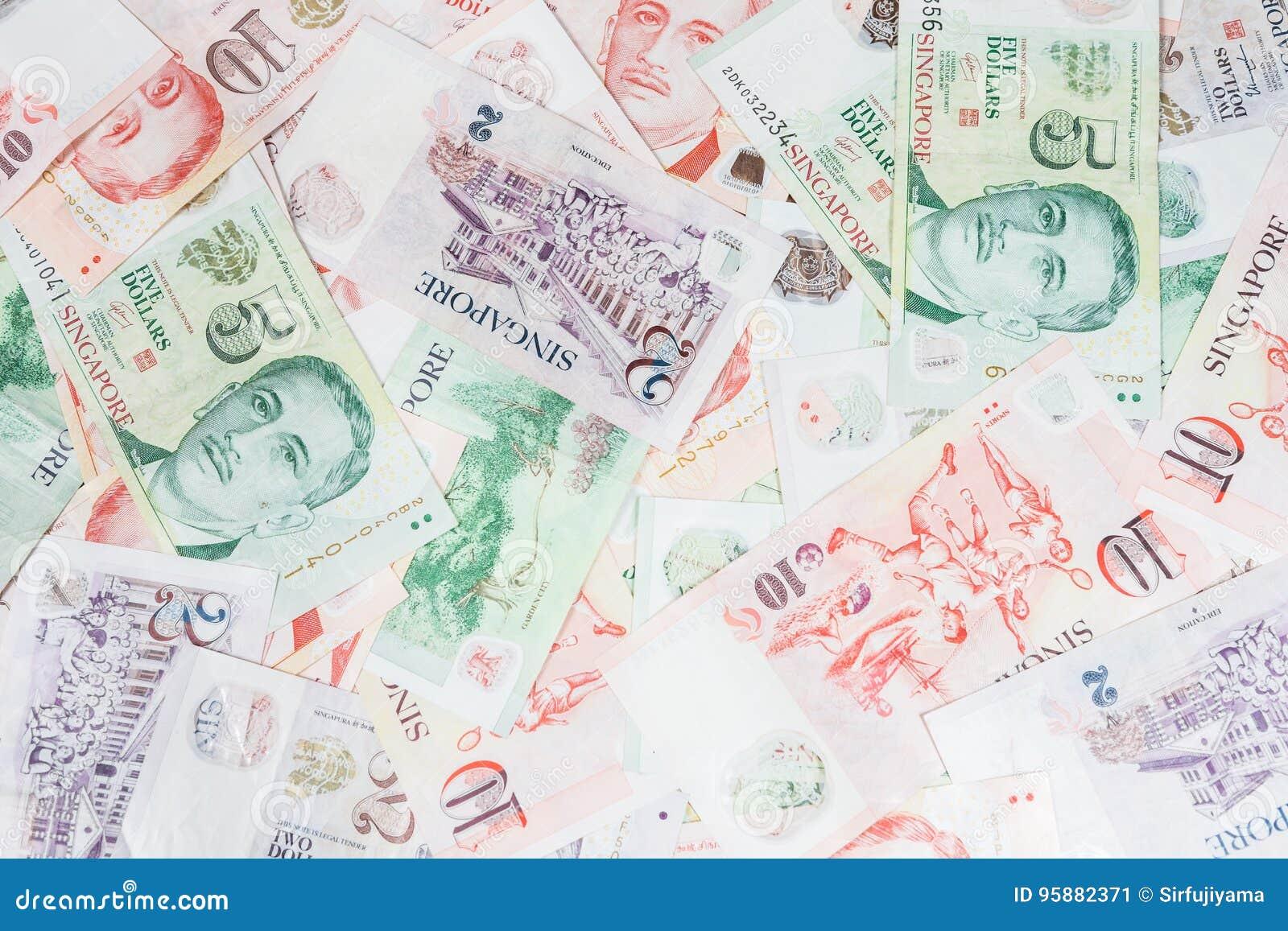 Singapore money stock image  Image of dollar, rich, exchange
