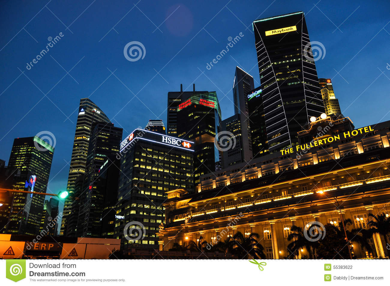 Singapore by night editorial photography image 55383622 for Five star boutique