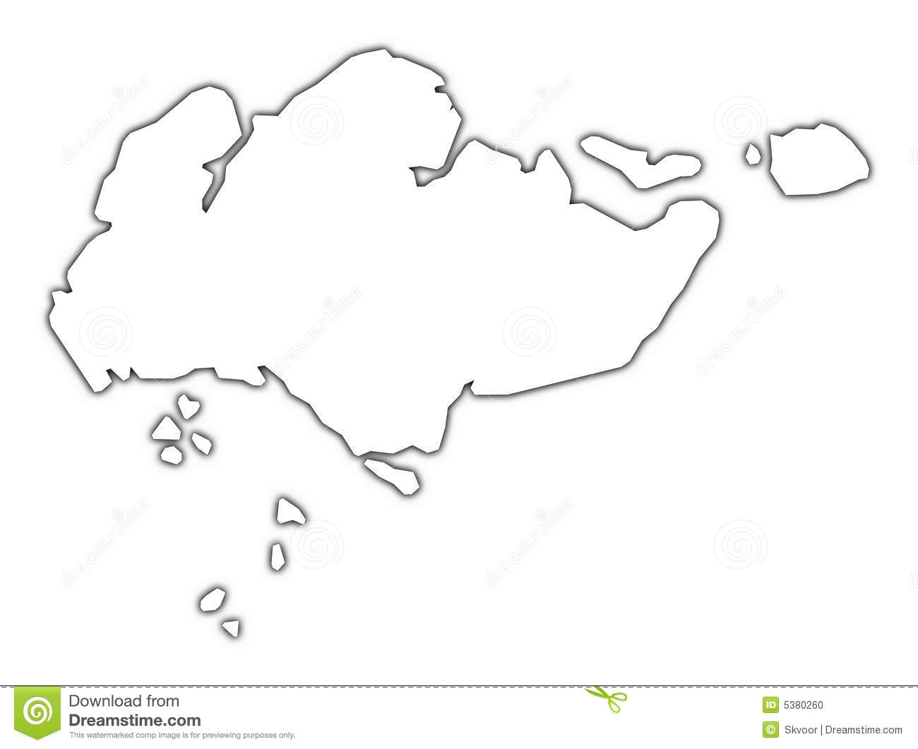 Singapore outline map stock illustration. Illustration of atlas ...