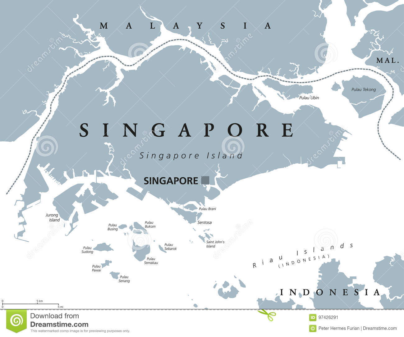 Asia Map Singapore.Singapore Political Map Stock Vector Illustration Of Sentosa 97426291