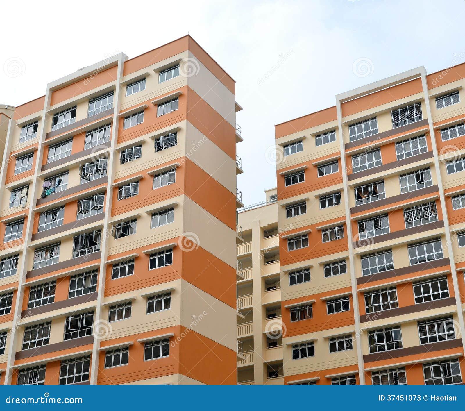 Apartments In Singapore: Singapore Public Housing Blocks Stock Image