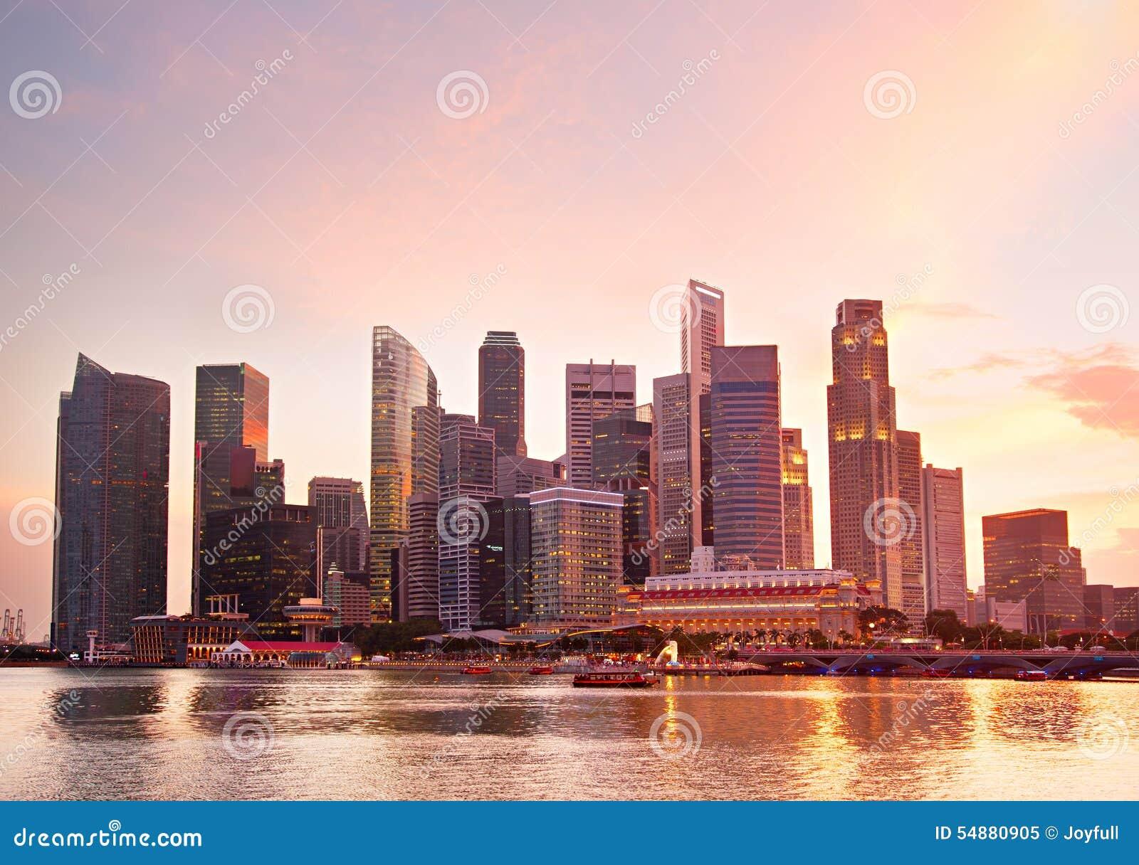 Singapore Real Estate Stock Photo Image 54880905