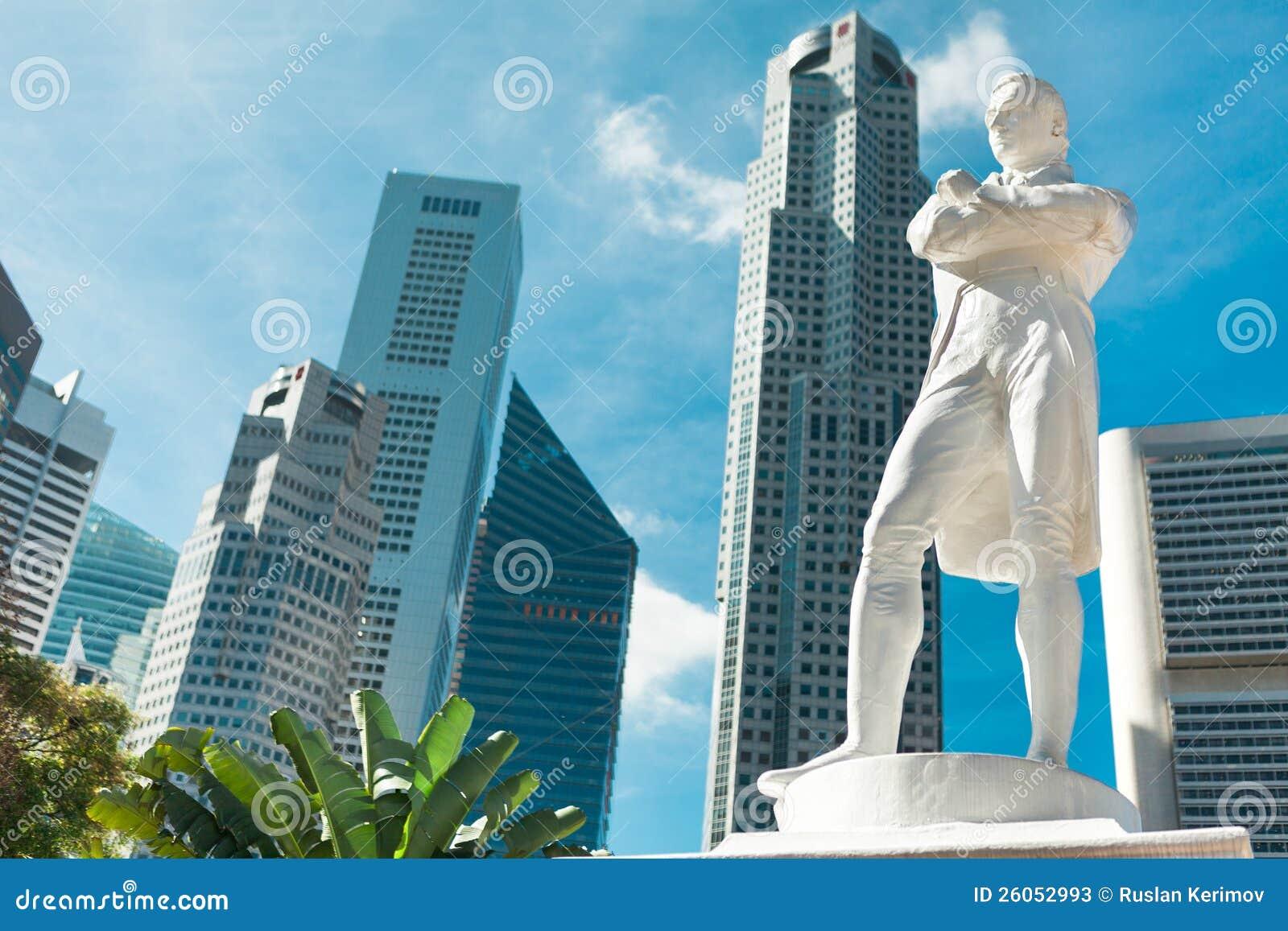 Singapore Sir Raffles Statue Stock Photos Image 26052993