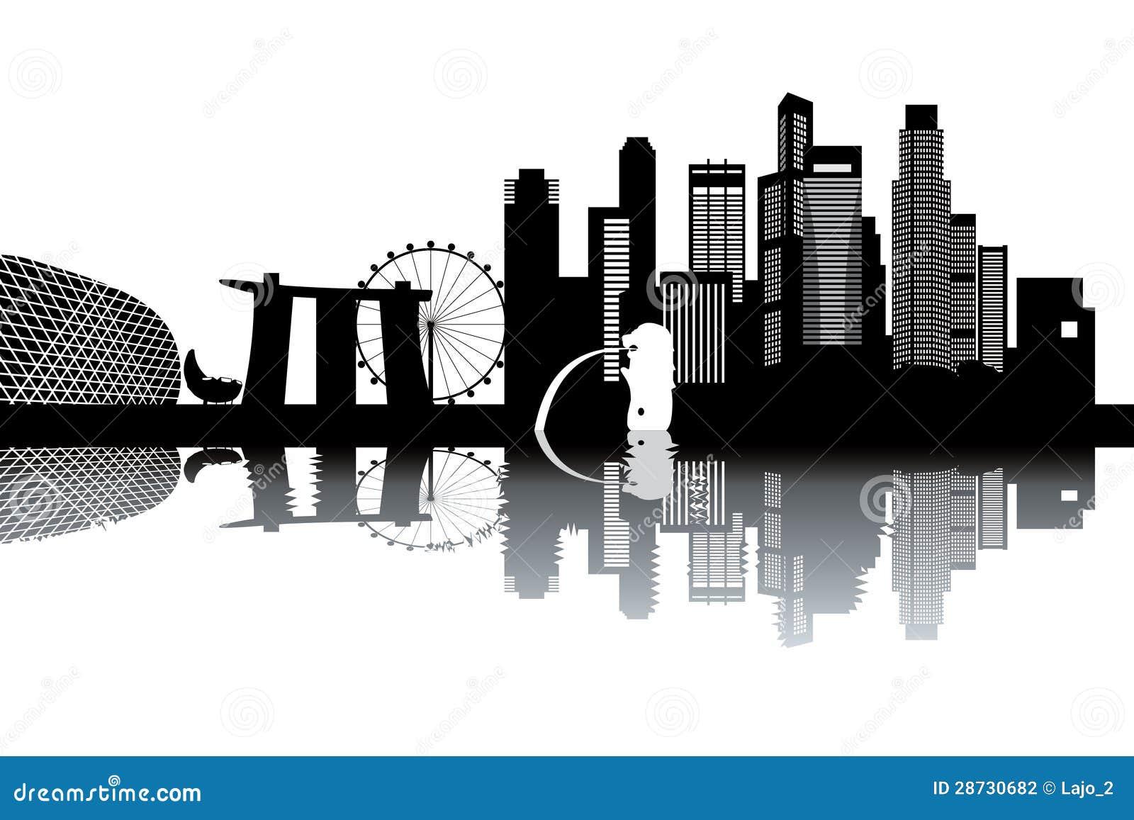 Singapore Skyline Stock Photography Image 28730682