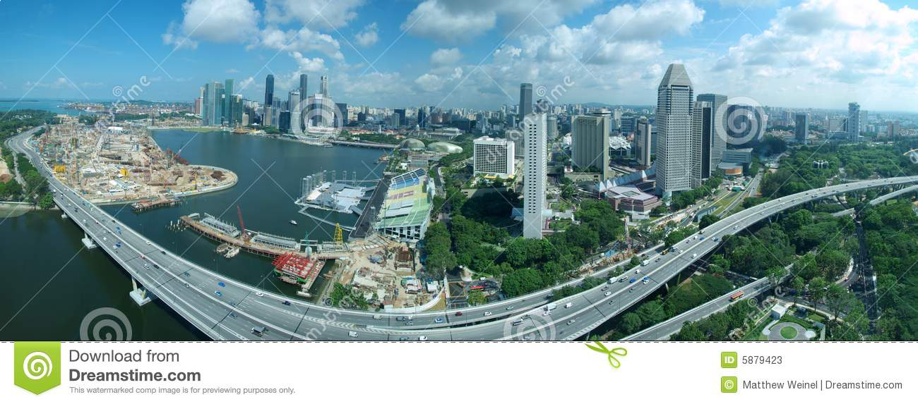 Singapore Skyline & Freeway