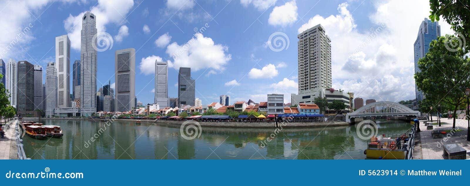 Singapore Skyline Raffles Quay