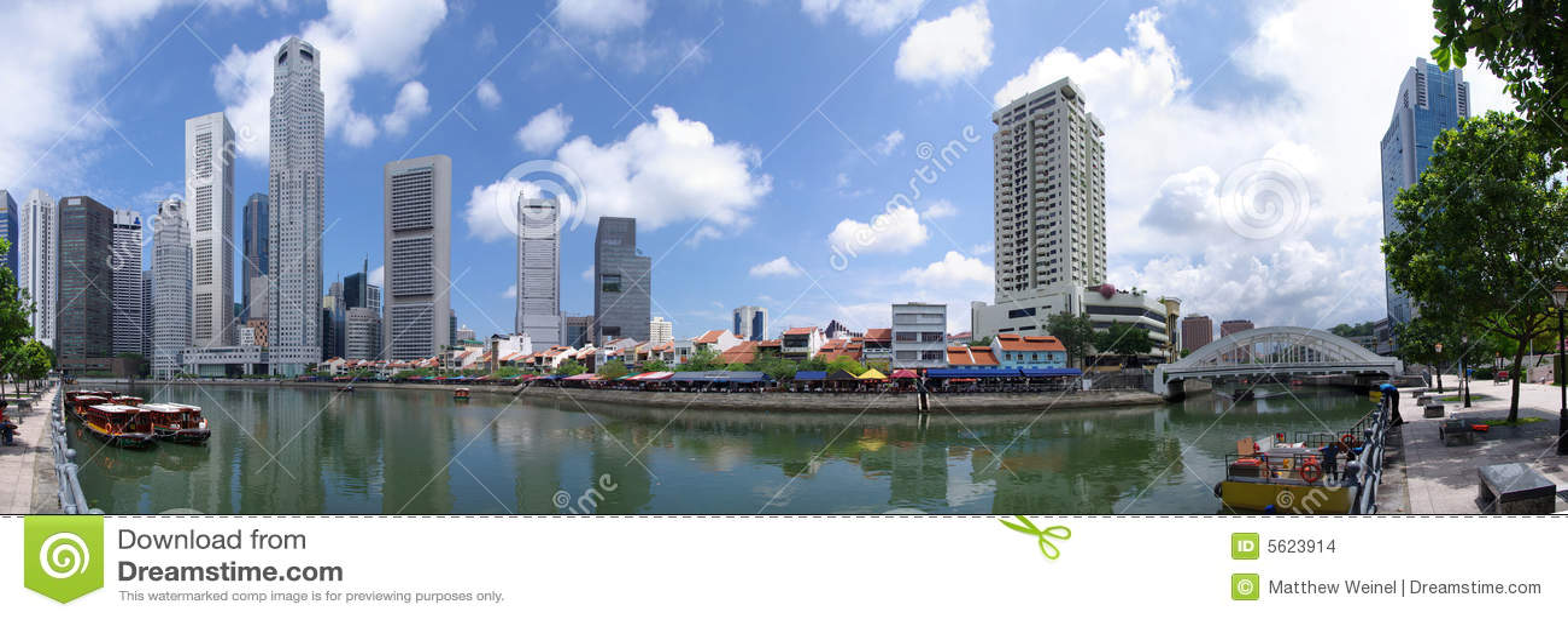 Download Singapore Skyline Raffles Quay Stock Photo - Image of colorful, dock: 5623914