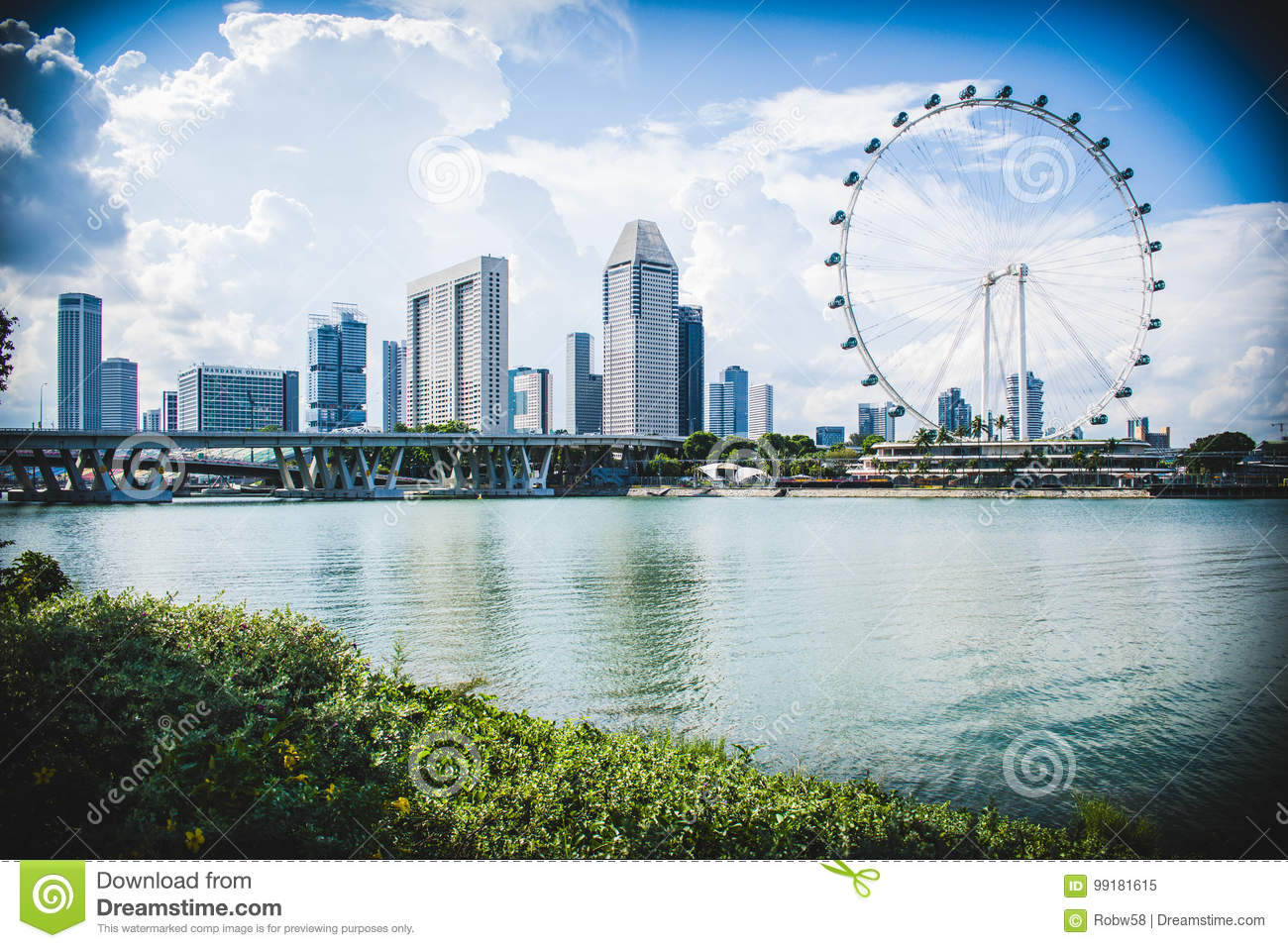 Singapore Syline Editorial Image Of Colourful 99181615 Trip Skyline During A In August