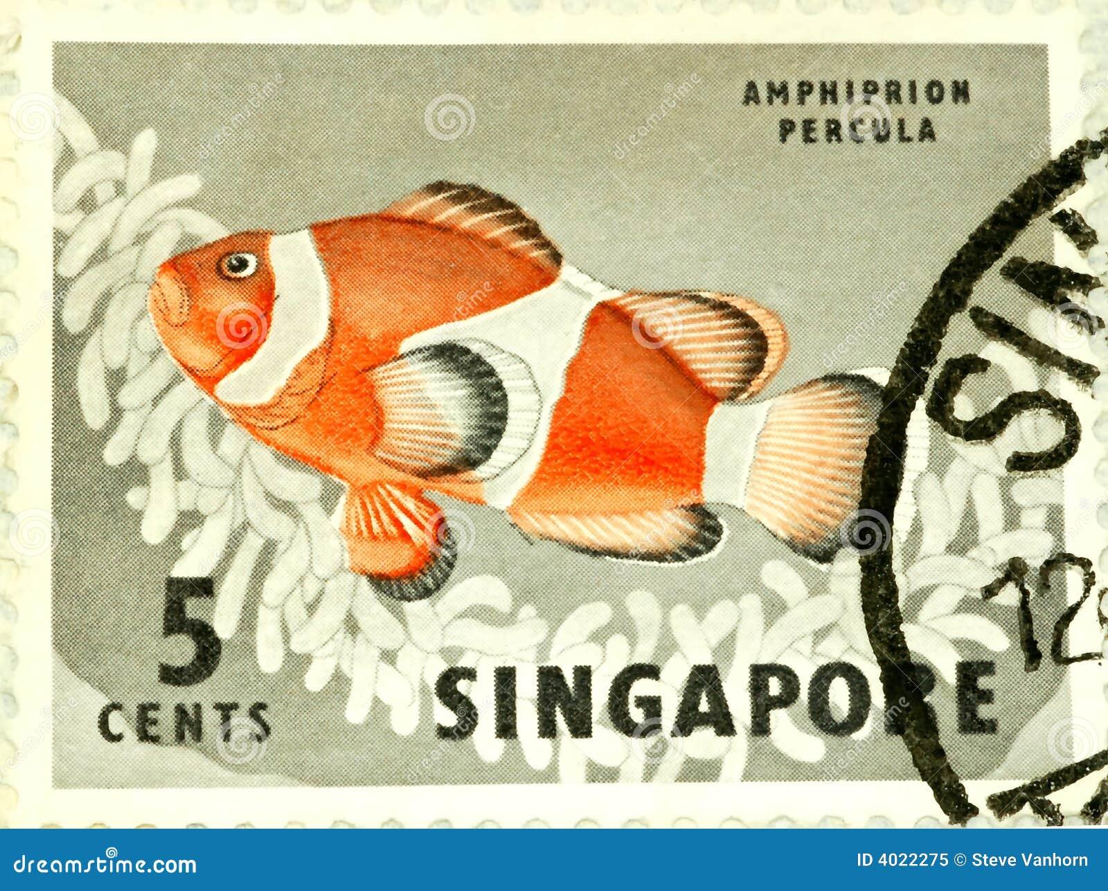 Singapore Stamp Royalty Free Stock Photo Image 4022275