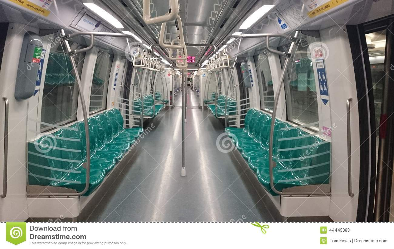 singapore subway train stock photo image of green subway 44443388. Black Bedroom Furniture Sets. Home Design Ideas