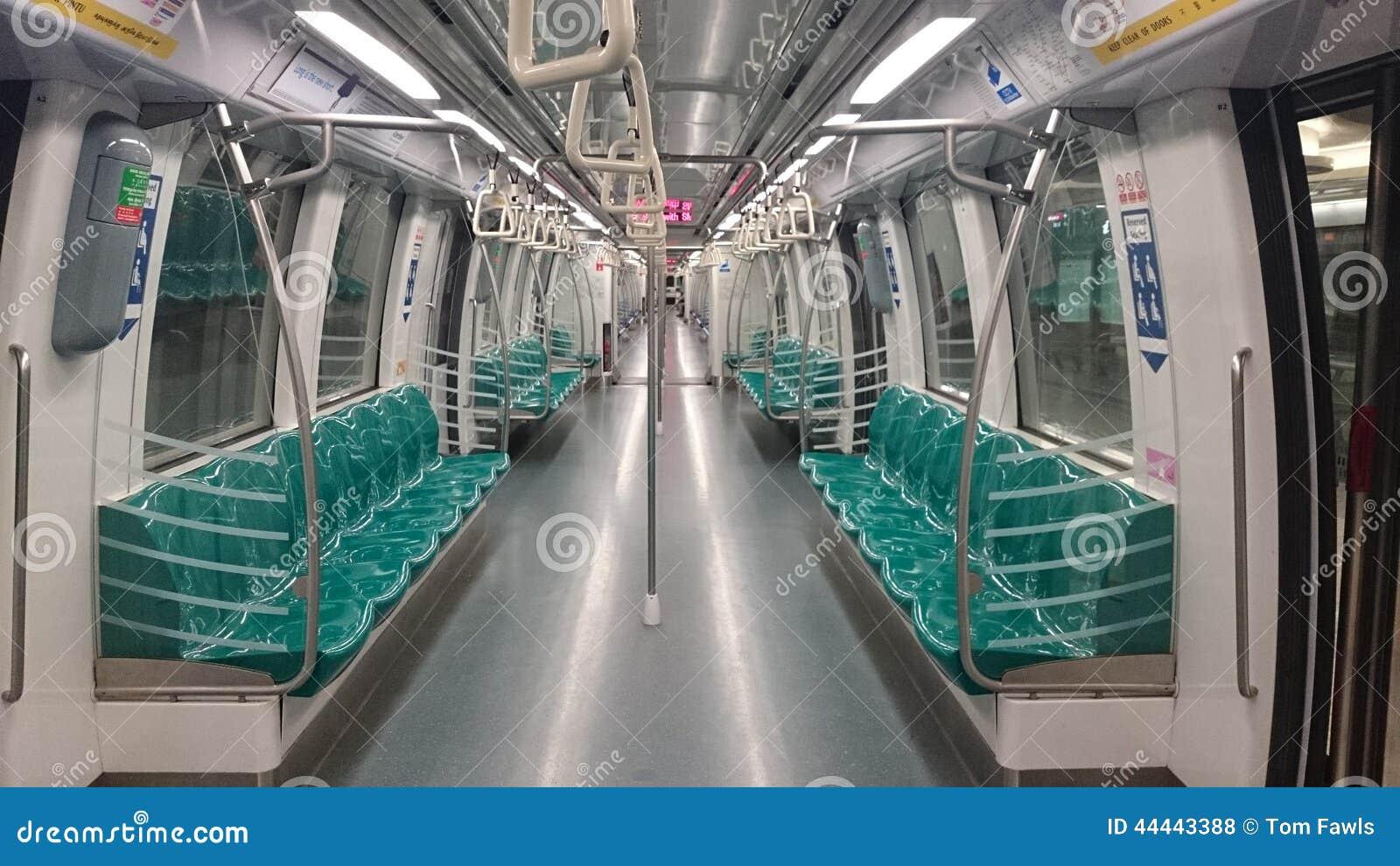 Singapore subway train stock photo image 44443388 - Intiriror picture ...