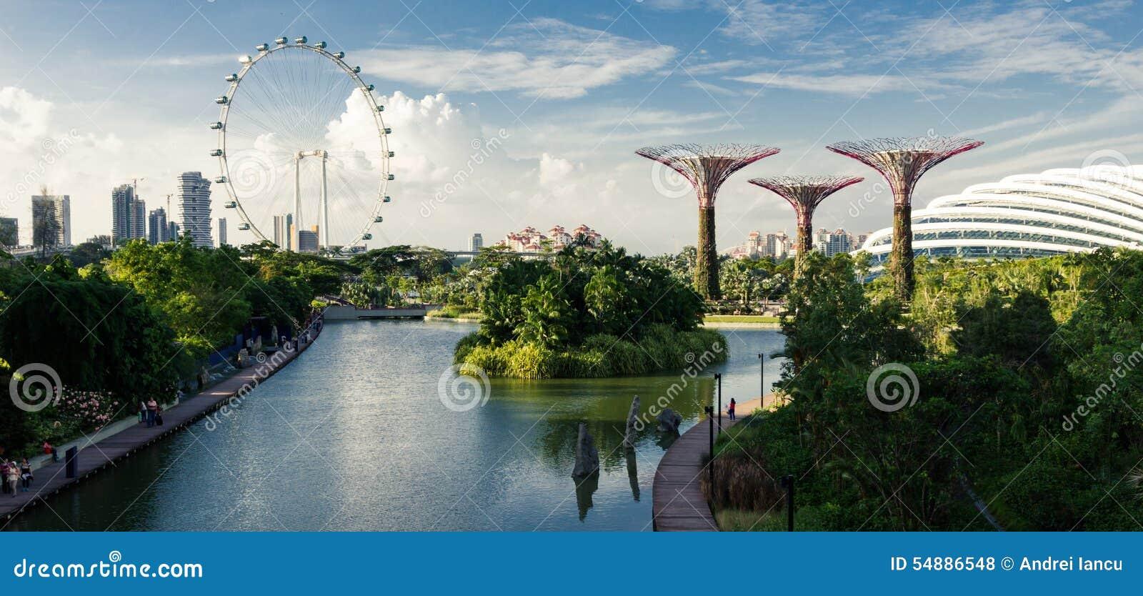 Singapore trädgårdar vid fjärden
