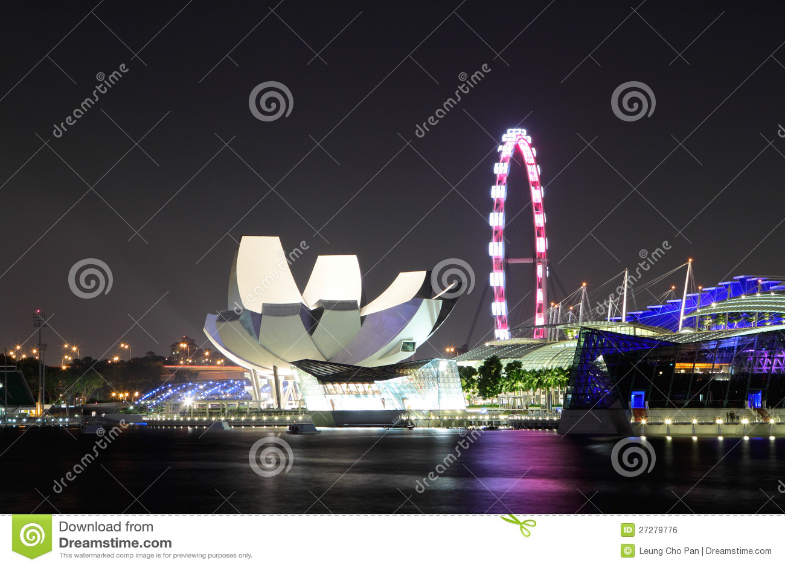 Singapore vid natt