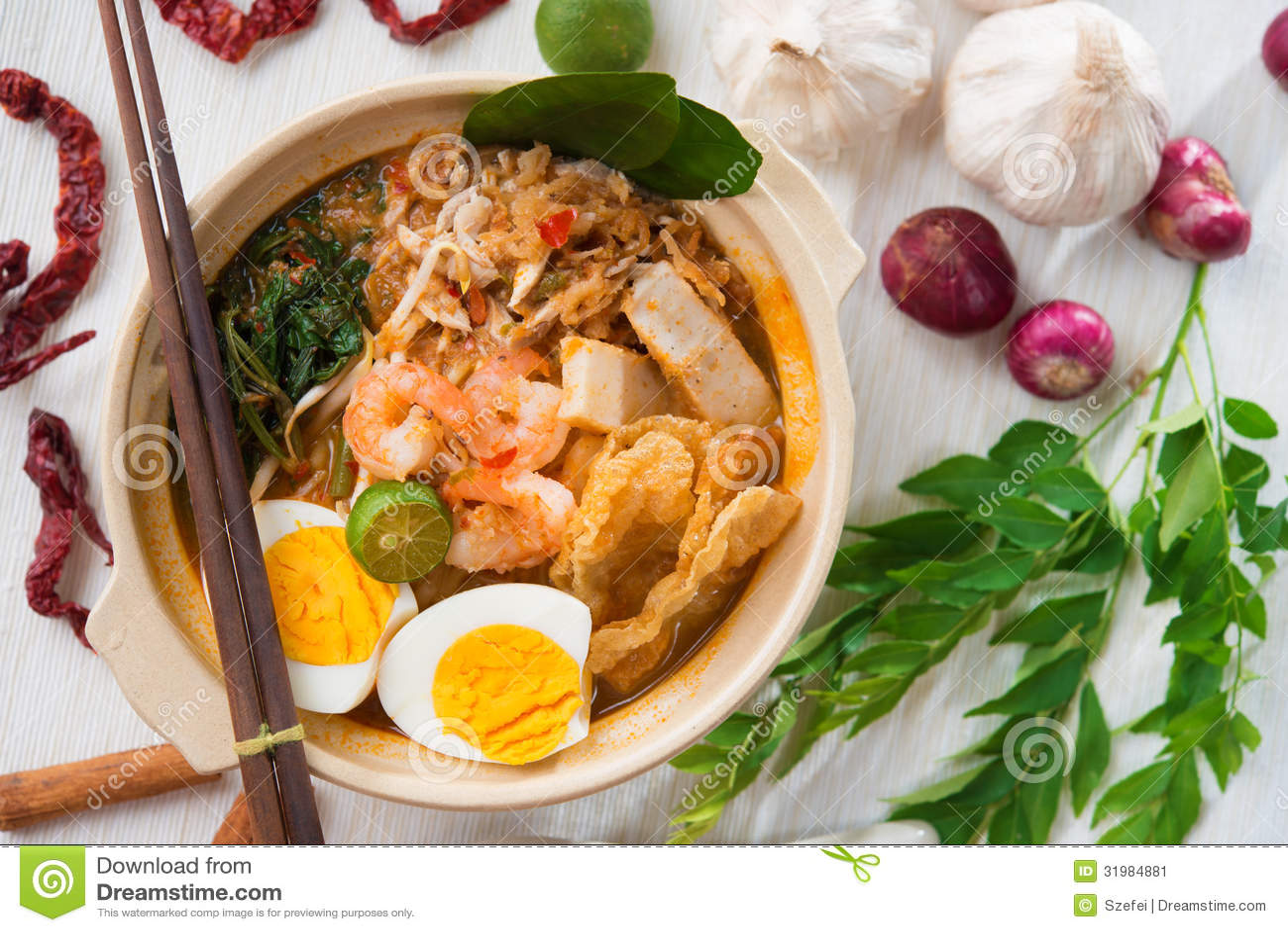 Singaporean prawn mee stock image image 31984881 for Asian cuisine singapore