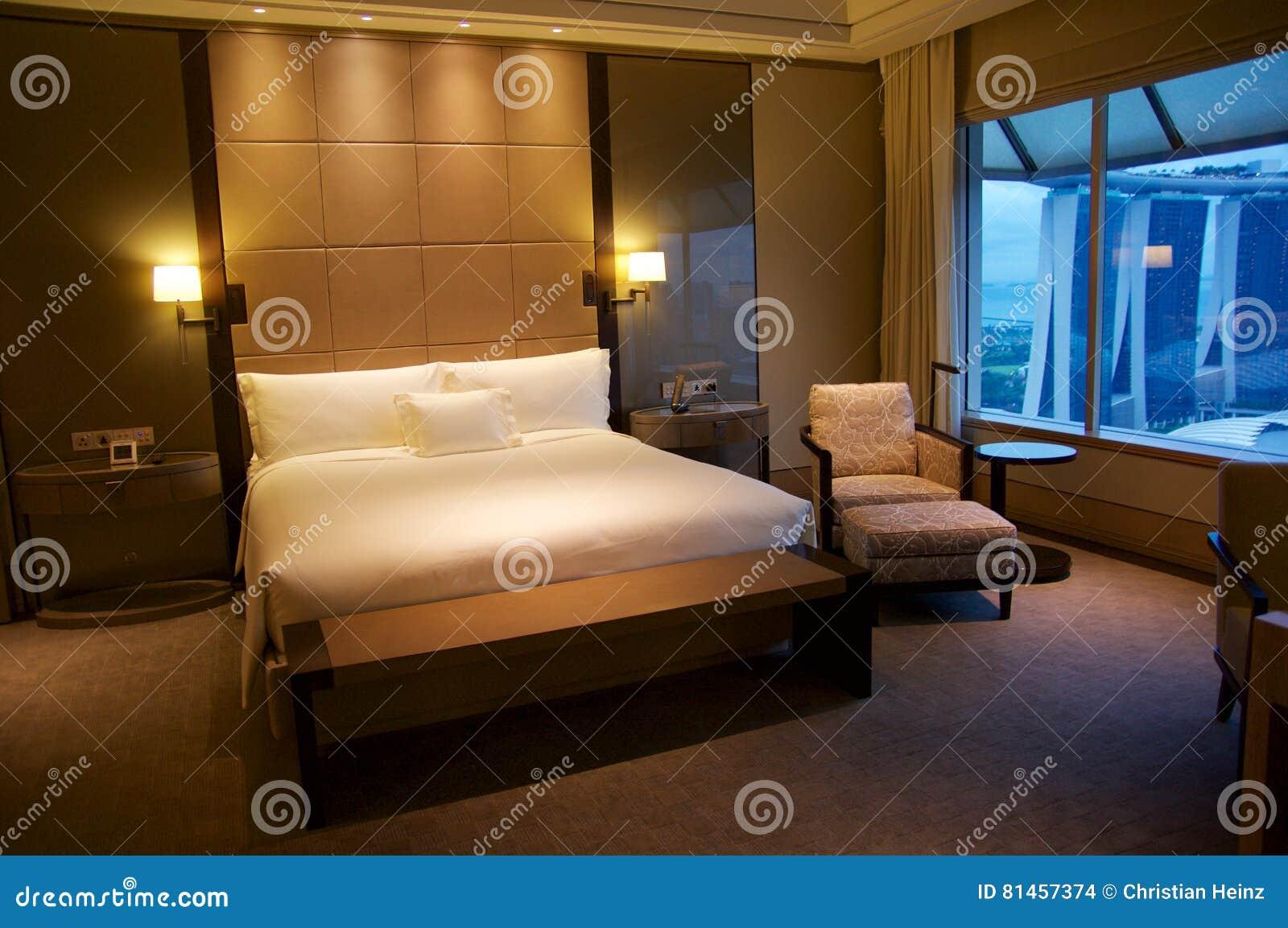 SINGAPOUR - 23 Juillet 2016 : Chambre D\'hôtel De Luxe Avec L ...