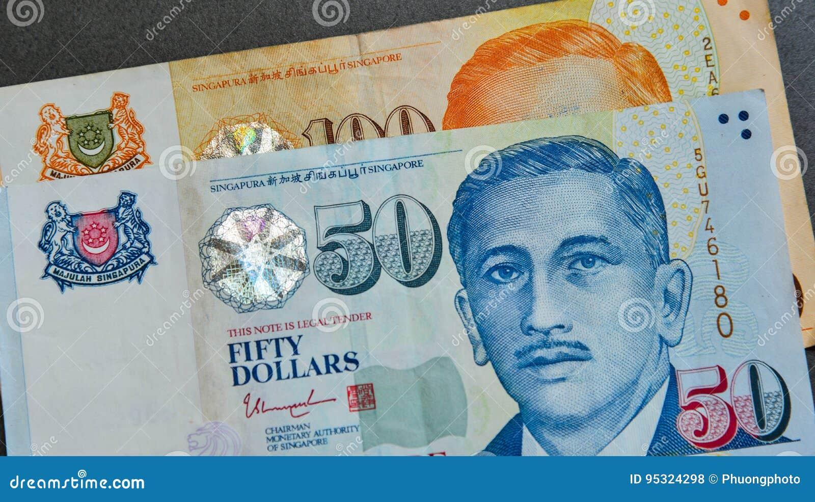 Singapur Banknotendollar Sgd Stockfoto Bild Von Asiatisch Münze
