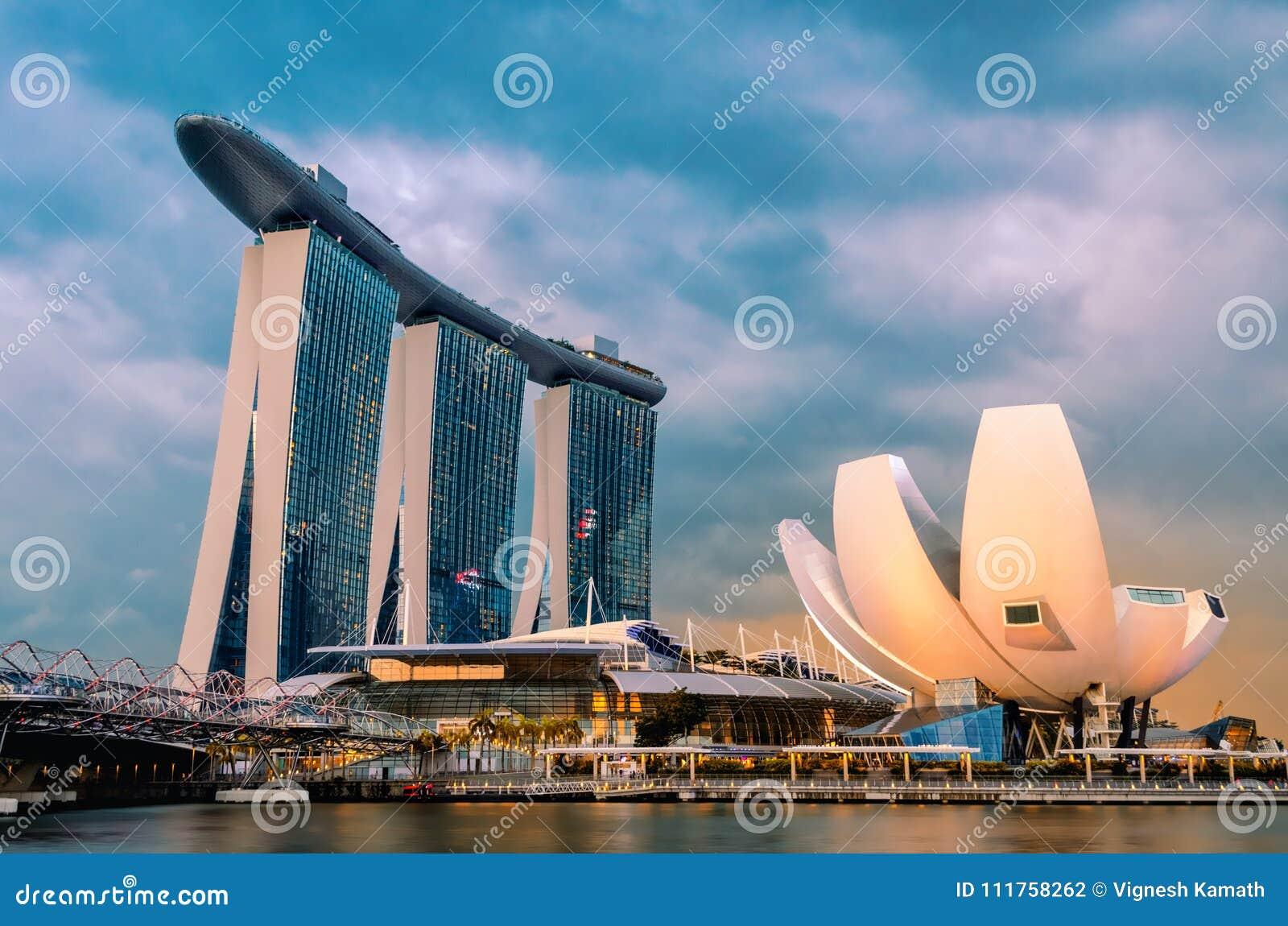 SINGAPUR 18. Januar 2018: Marina Bay Sands