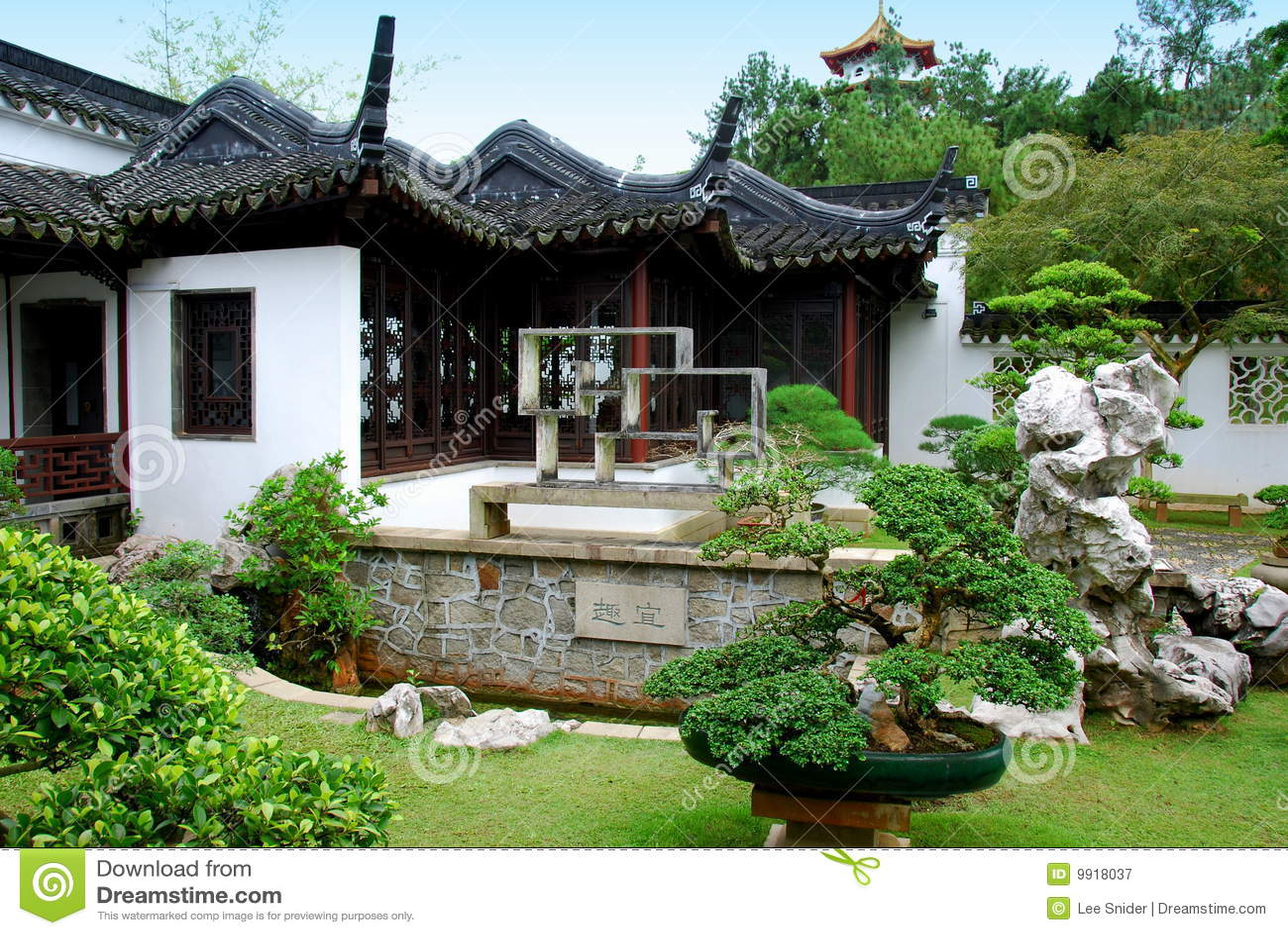 Singapur jard n de los bonsais en el jard n chino for Chino el jardin
