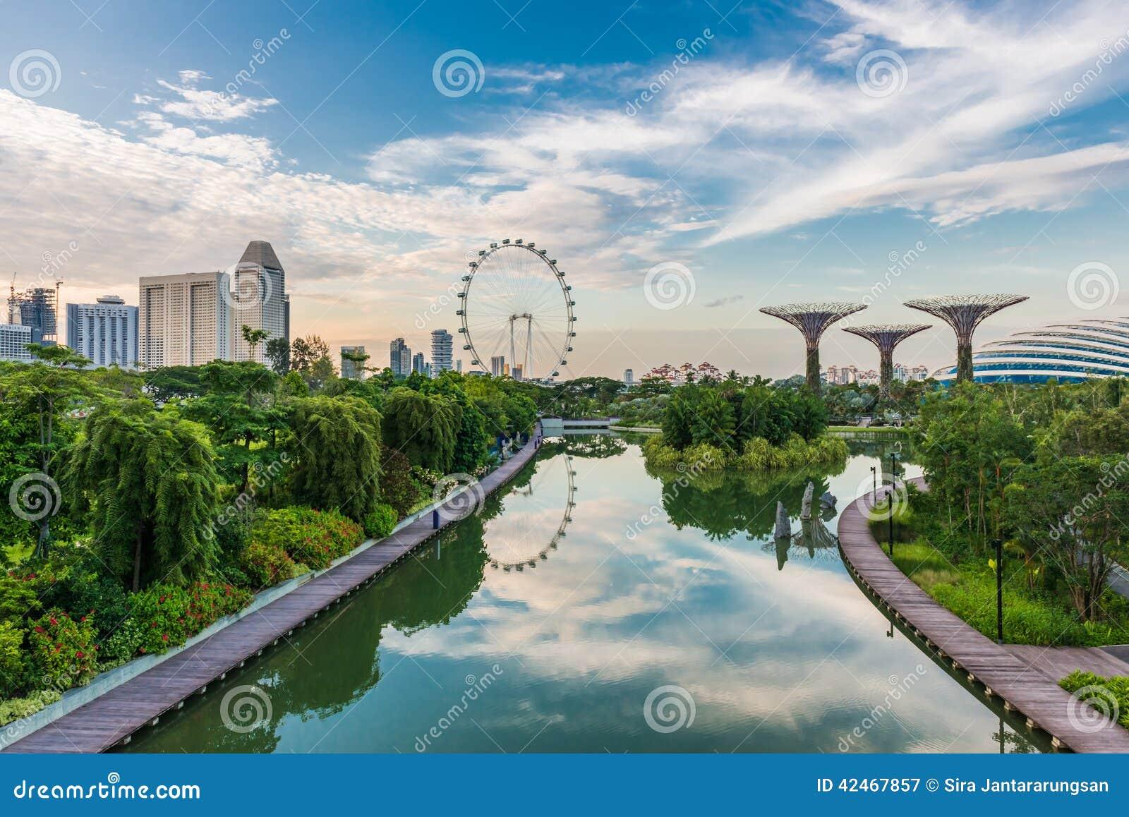 SINGAPUR - 19. JUNI: Singapur-Flieger - größte Ferris Wheel I