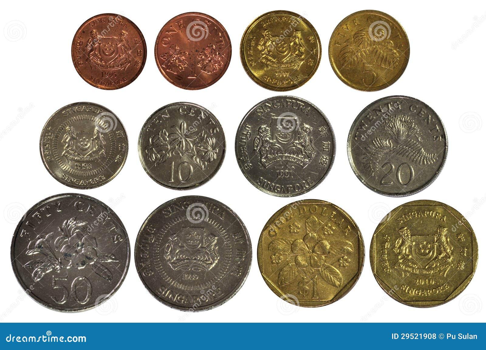 Singapur Münzen Eingestellt Stockfoto Bild Von Zahlung Ernstlich