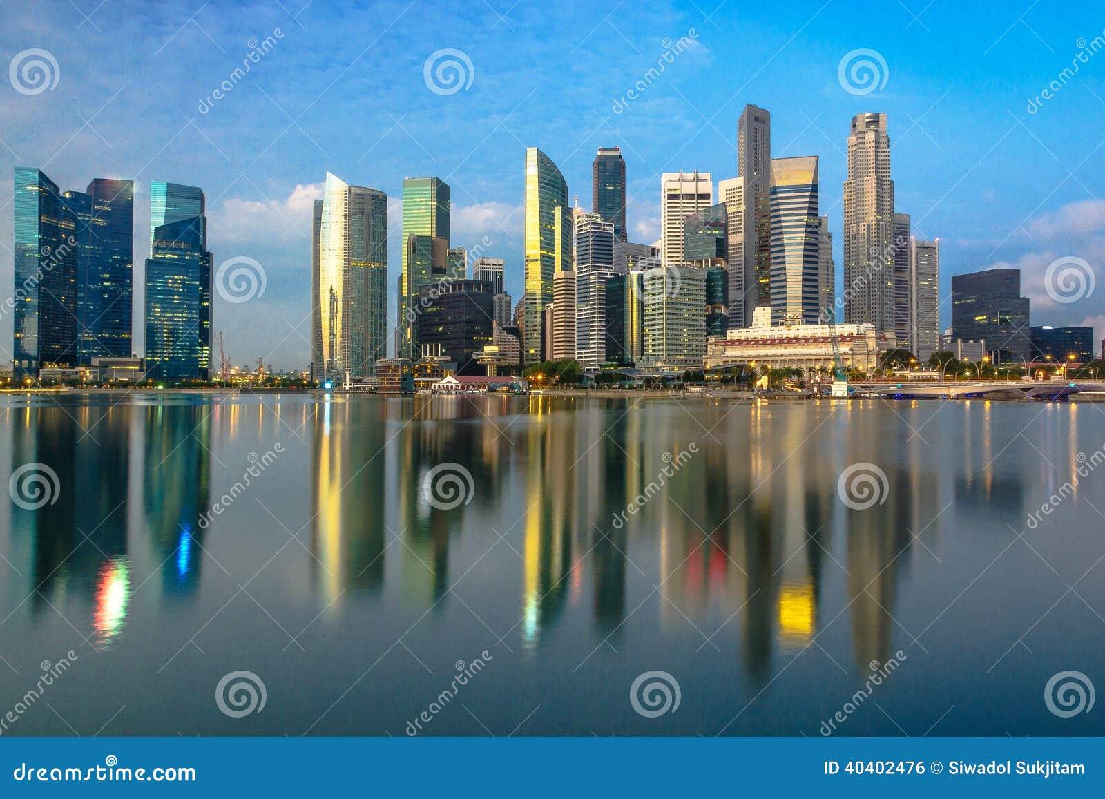 Singapur-Mitte bei Marina Bay