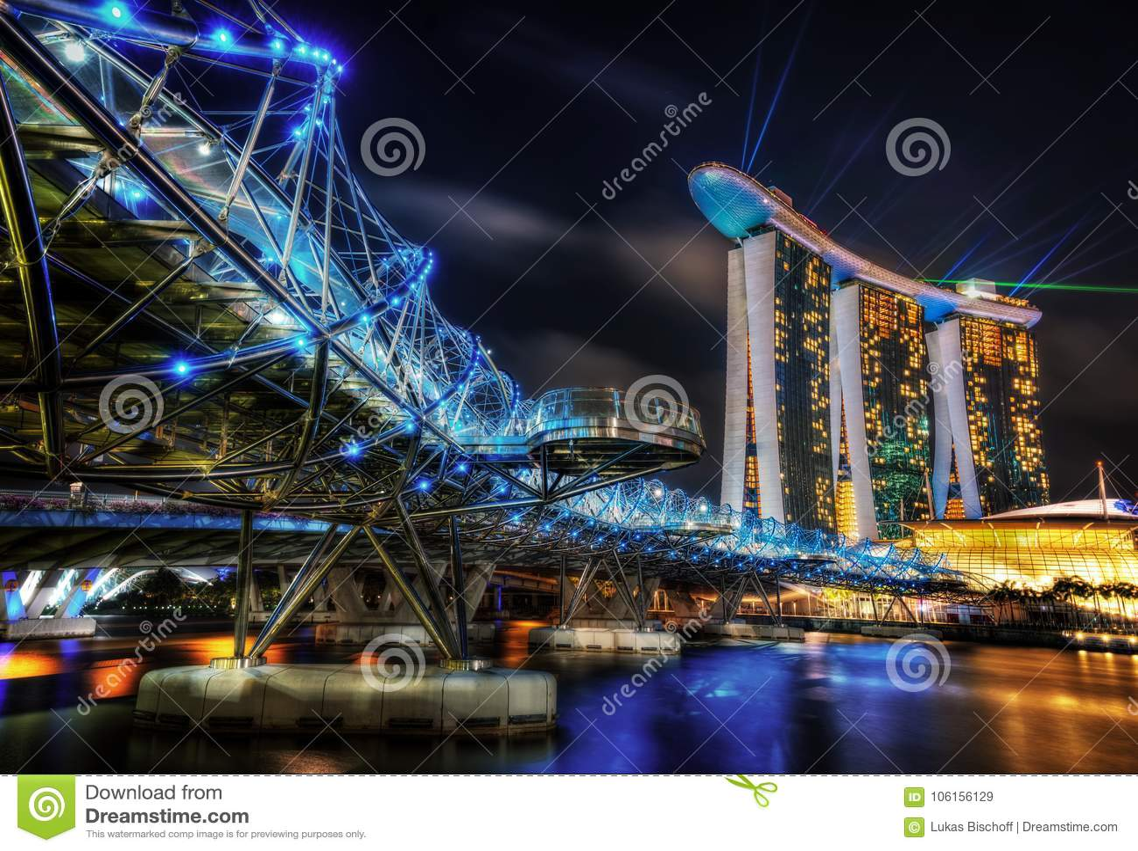 Singapur-Schneckenbrücke